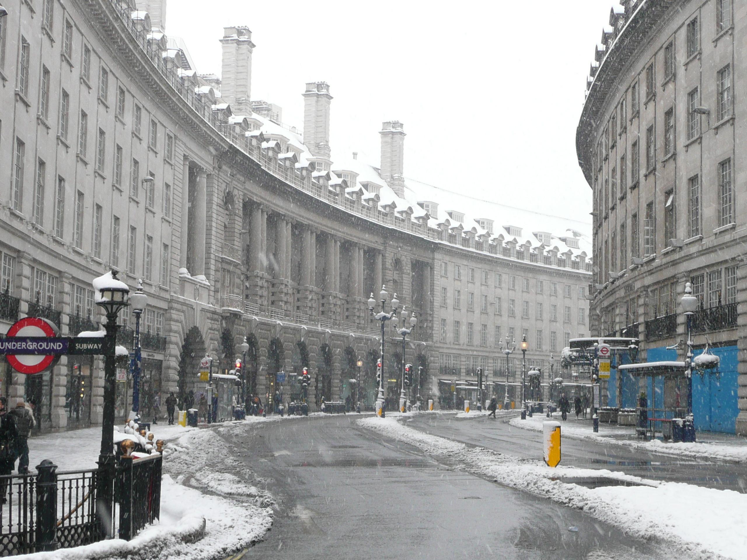London Winter Wallpaper in London Regent Street