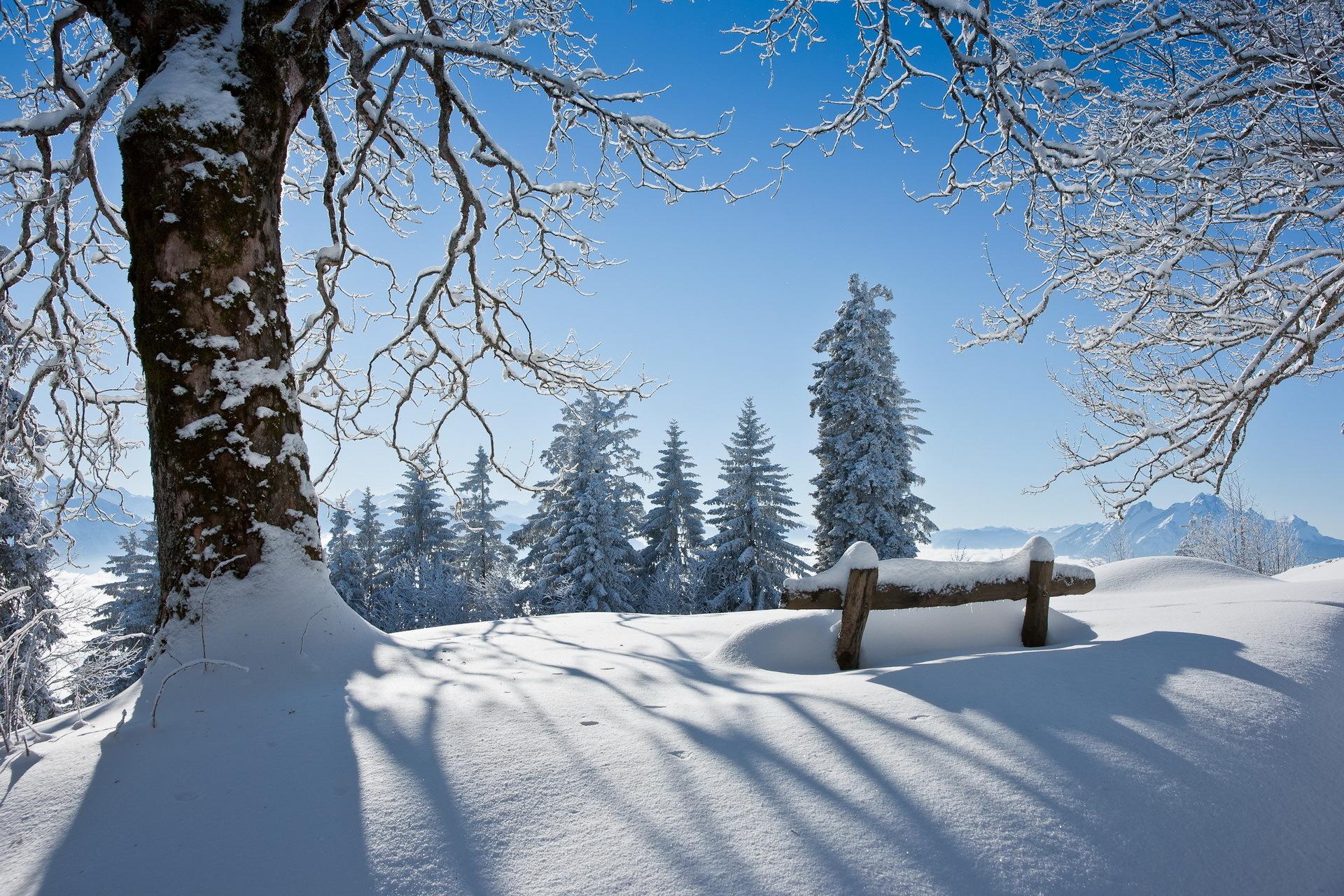 Благовещением, зимняя картинка красивая