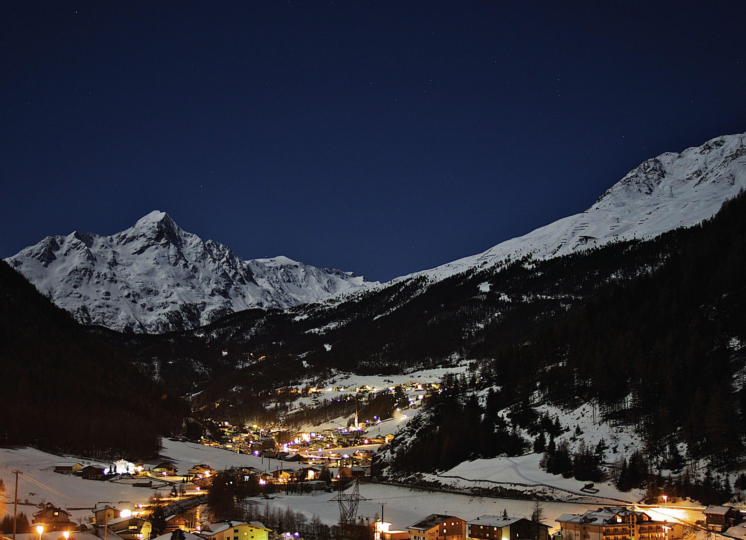 Обои австрия, курорт, ночь, austria. Города foto 12