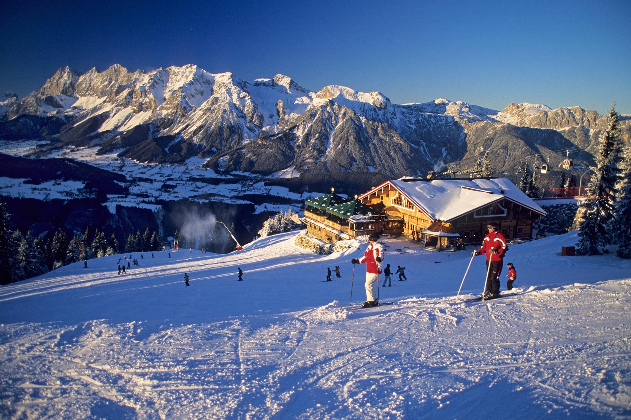 Открытка, картинки горнолыжные курорты австрии