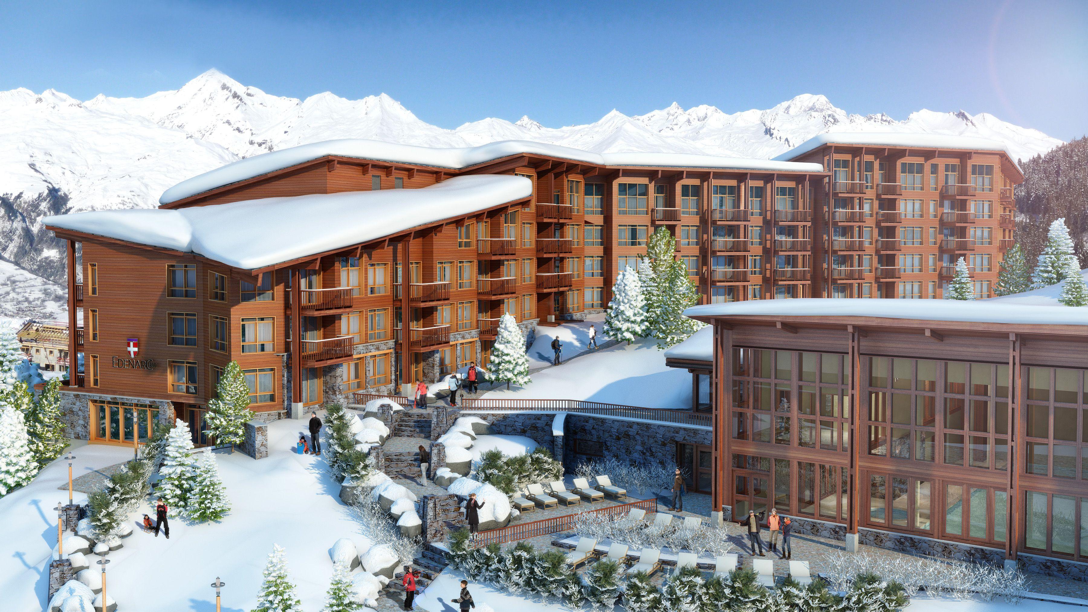 Edenark hotel in the ski resort of les arcs france for Hotels in france