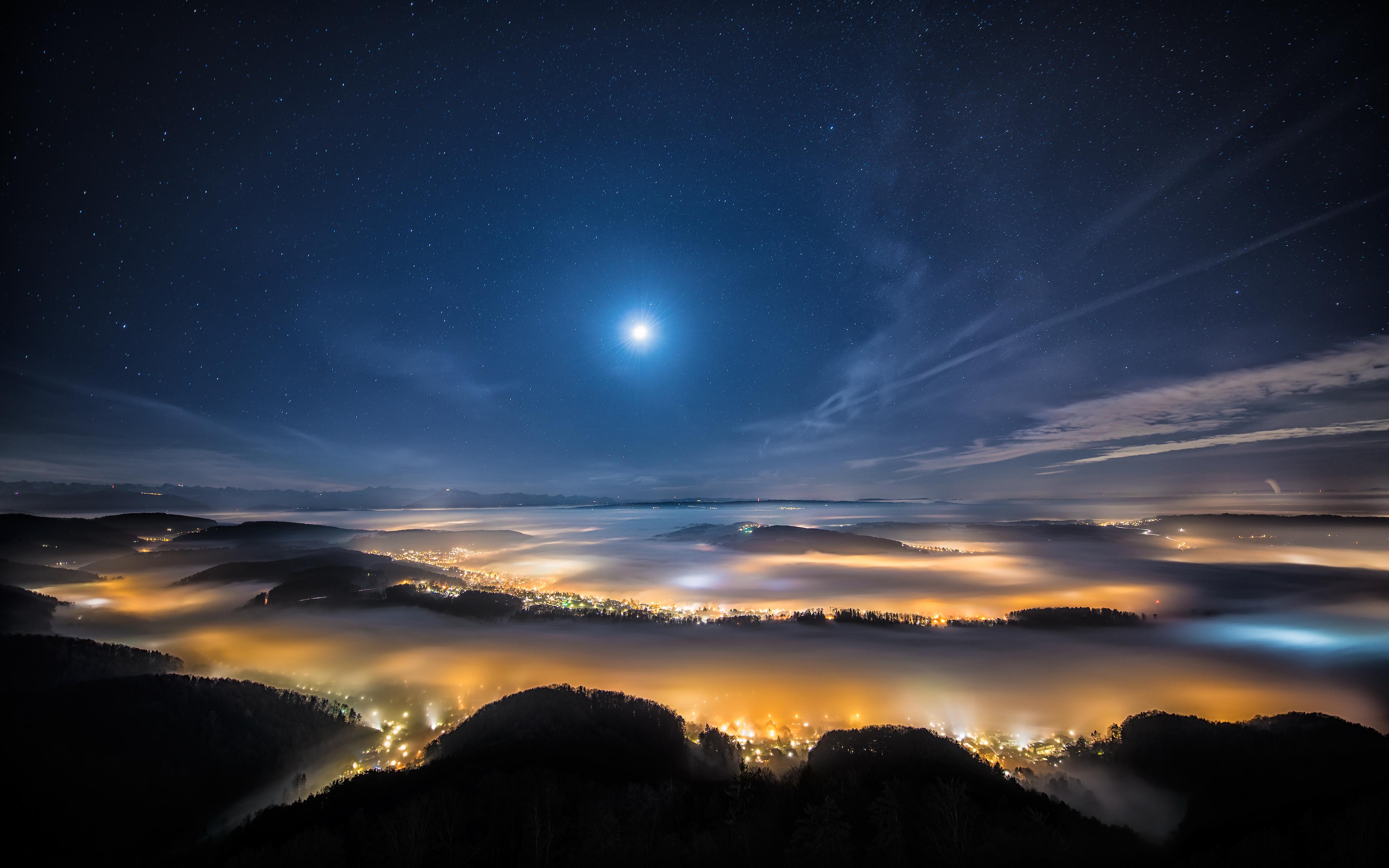 Картинки природа ночью красота, цветы картинки добрым