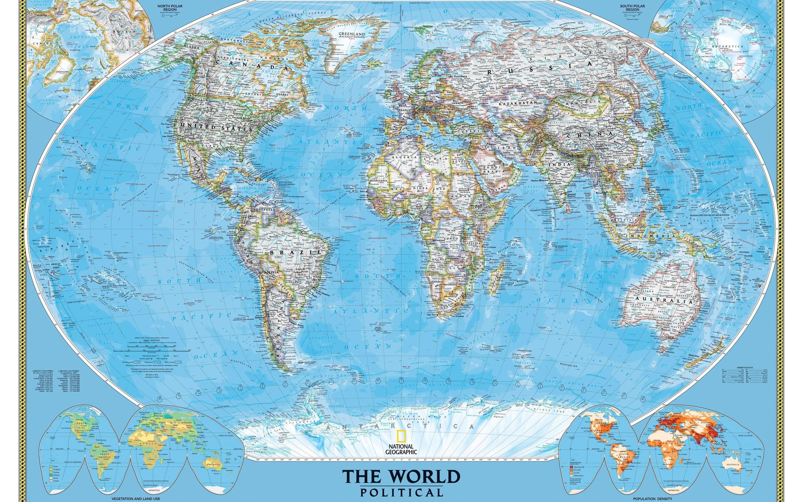 обои физическая карта мира рабочий стол