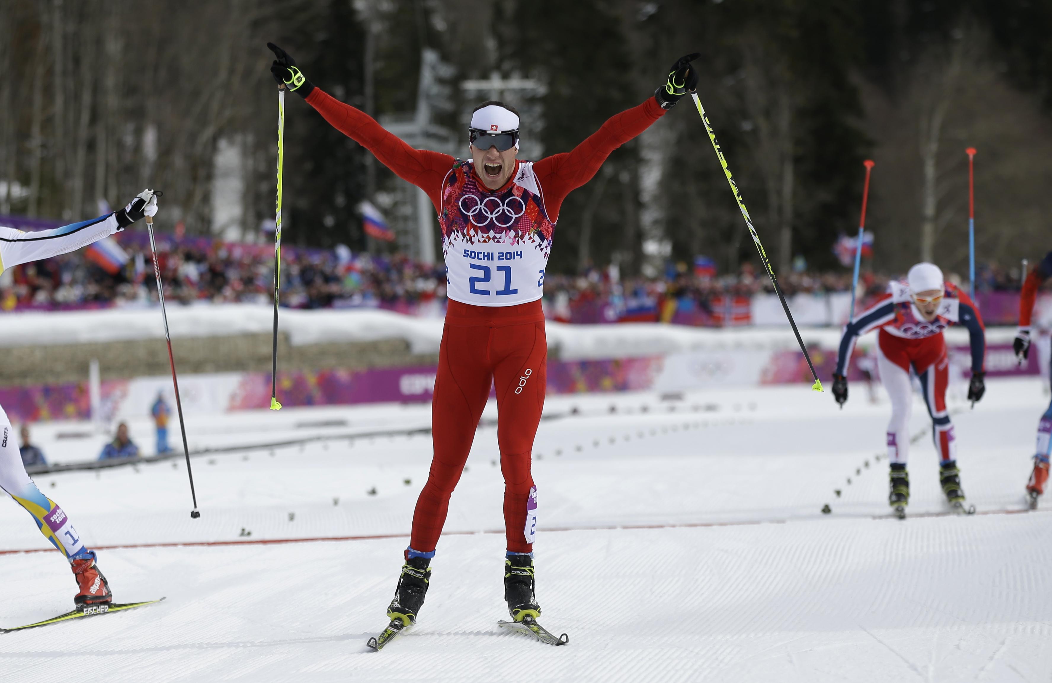 Да�ио Колон�я Швей�а�ия л�жн�е гонки золо�ой медали�� на