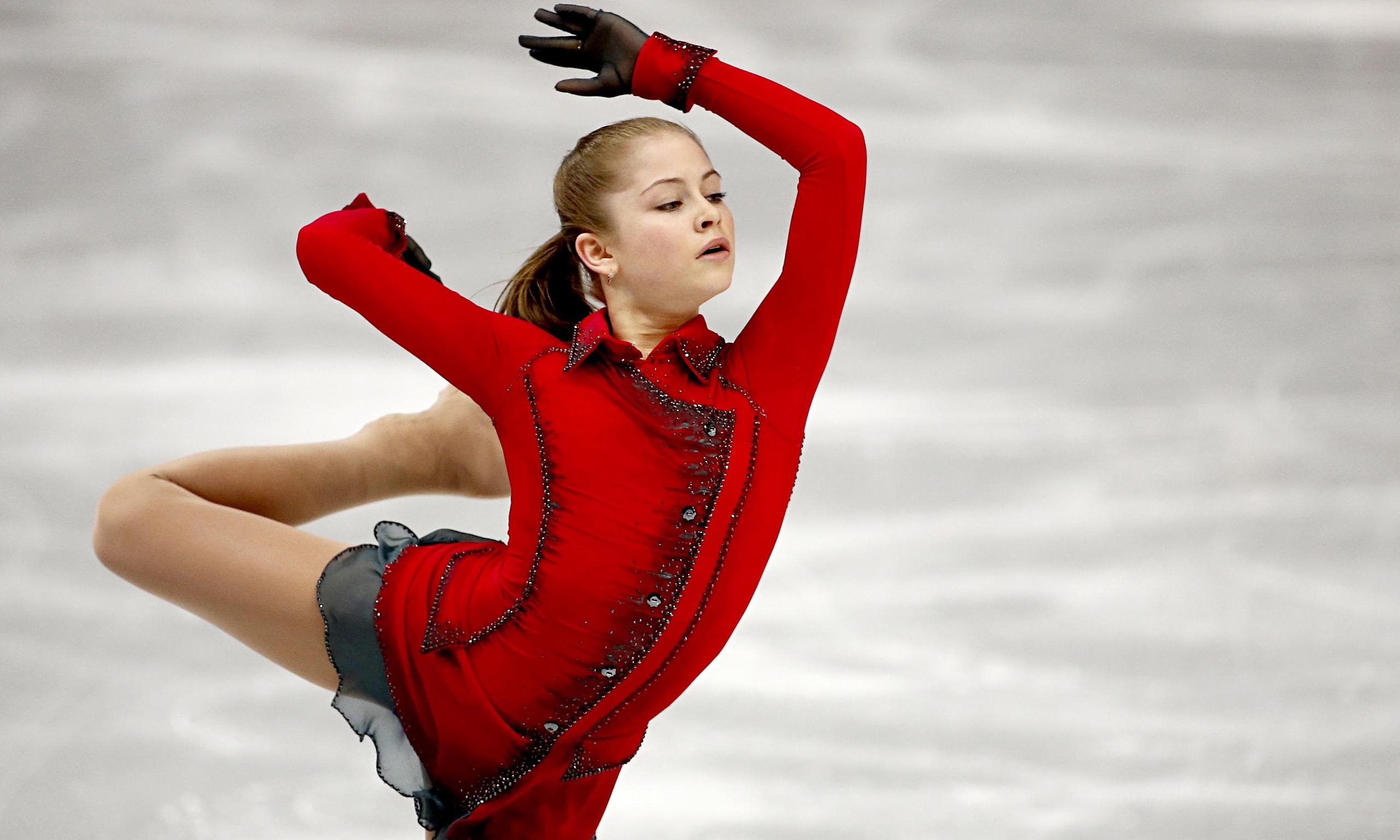 Julia Lipnitskaya ice figure skating at the Olympic Games ...