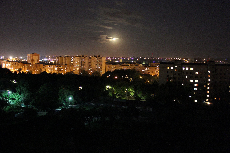 фото ночной харьков