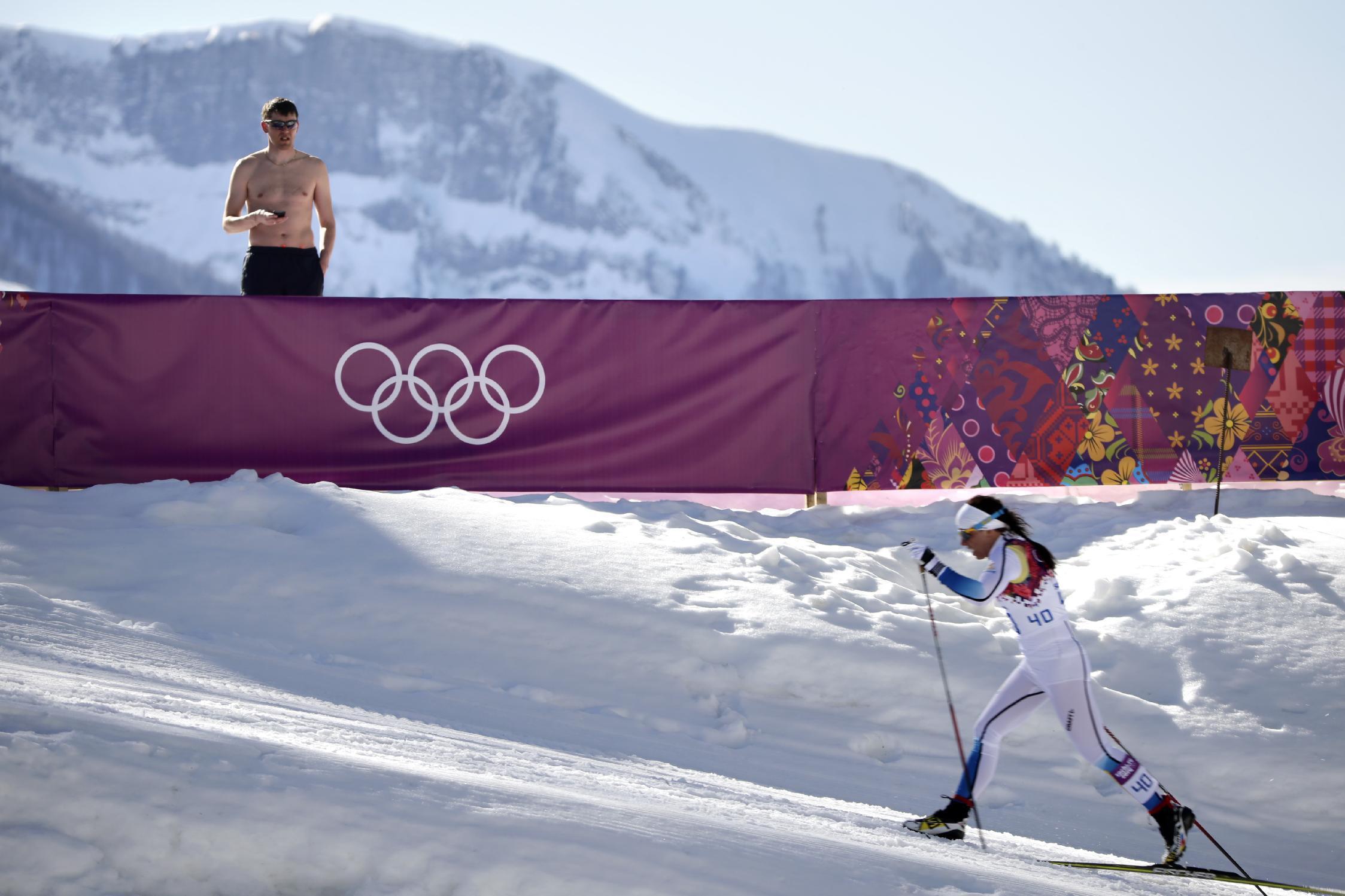 Эро фото с олимпиады лыжница 1 фотография