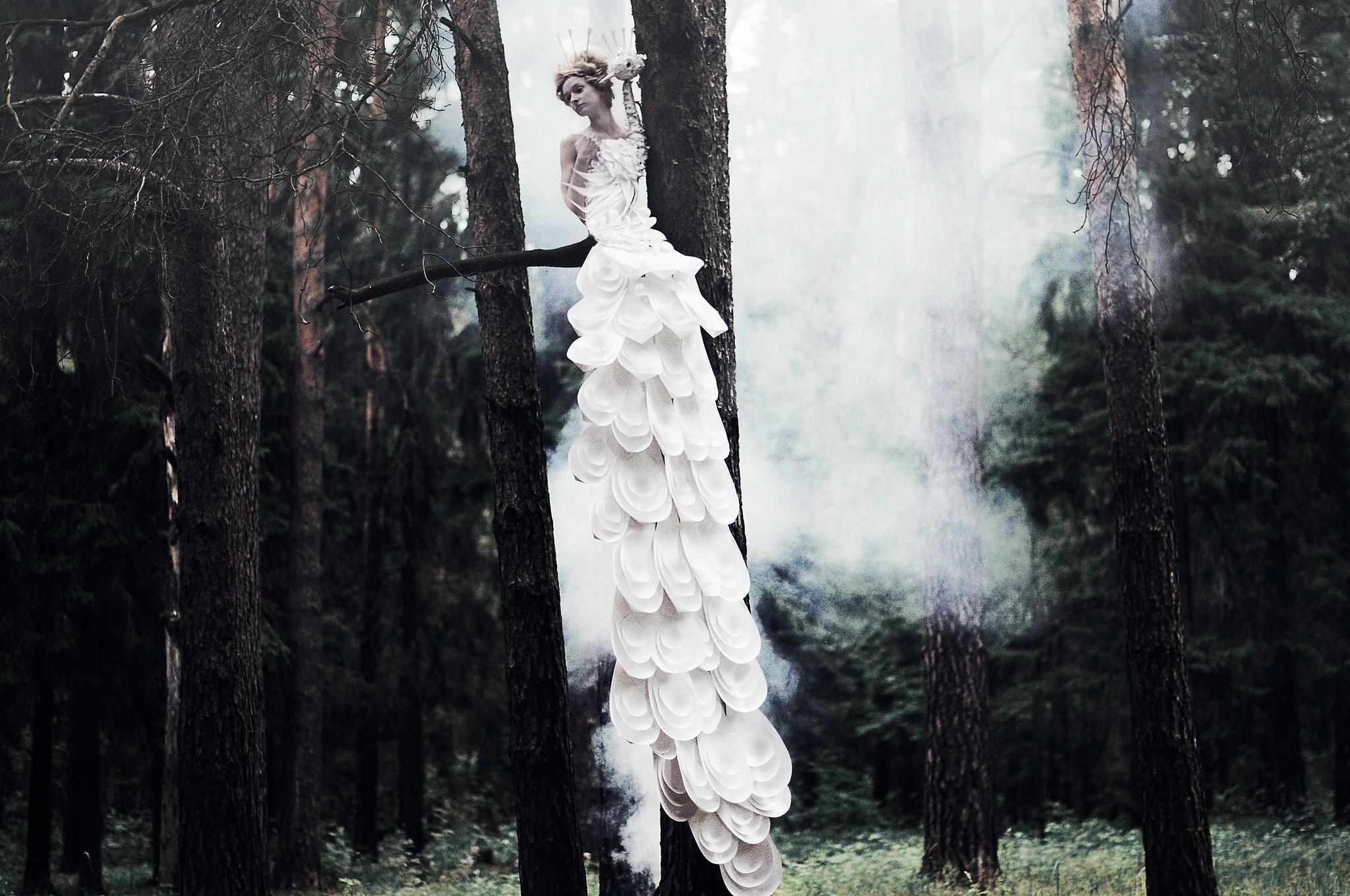 Фотография Девушка на дереве - обои для рабочего стола, картинки, фото