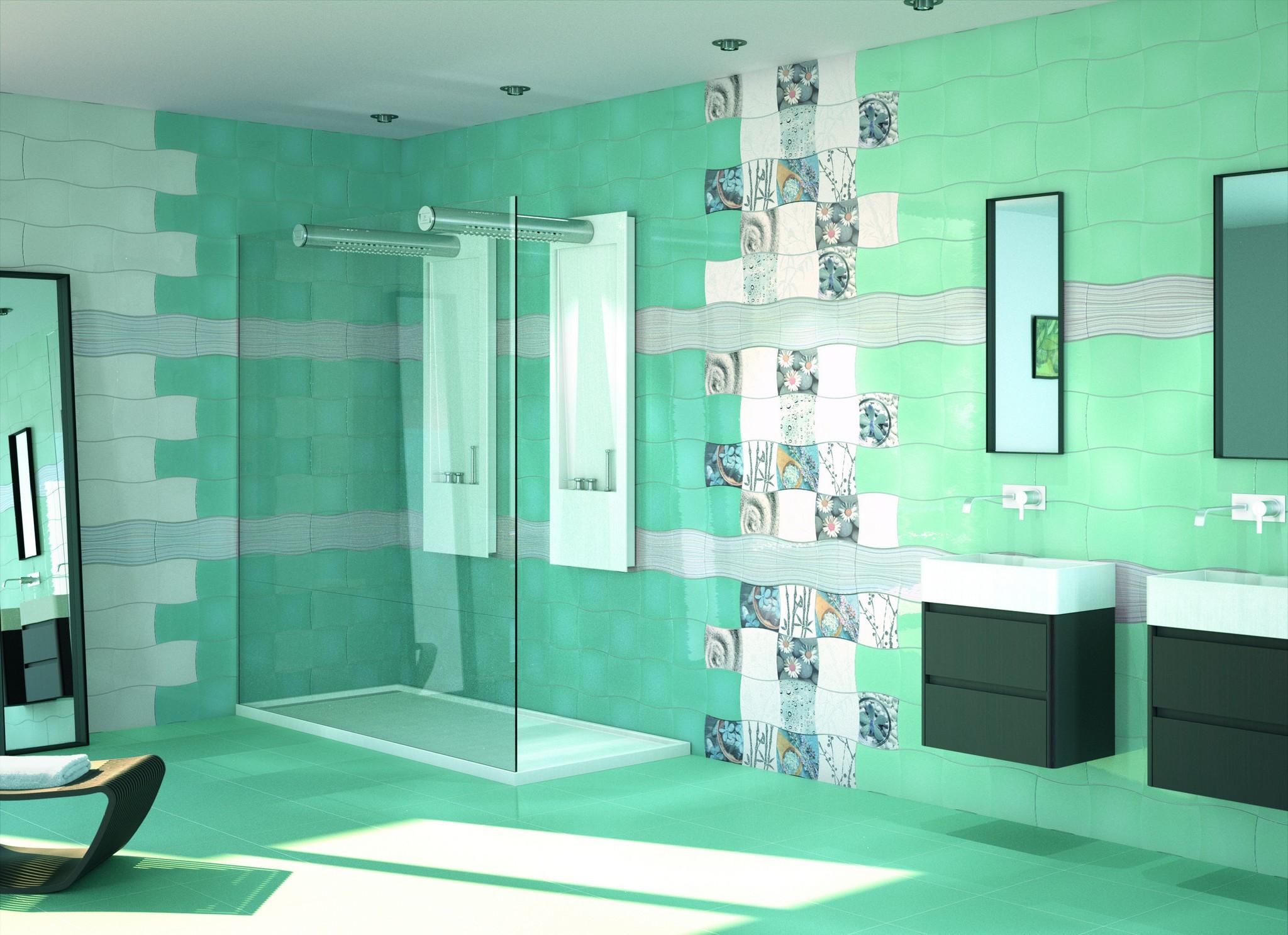turquoise tiles in the bathroom desktop wallpapers 1400x1050