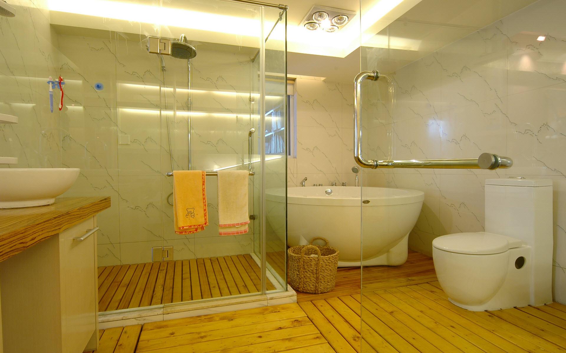 Недорогой дизайн ванной и туалета