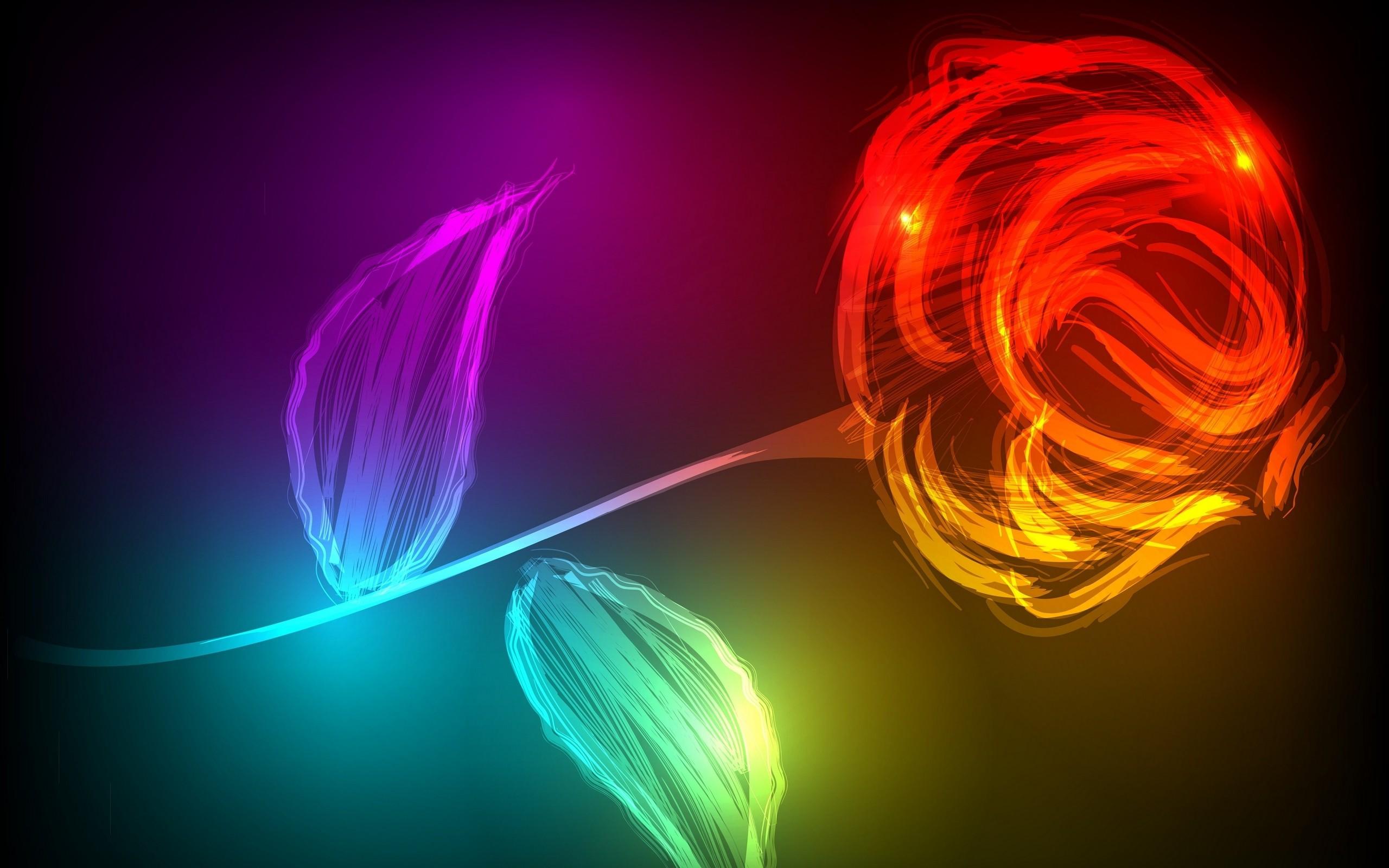 Фото с неоновыми цветами