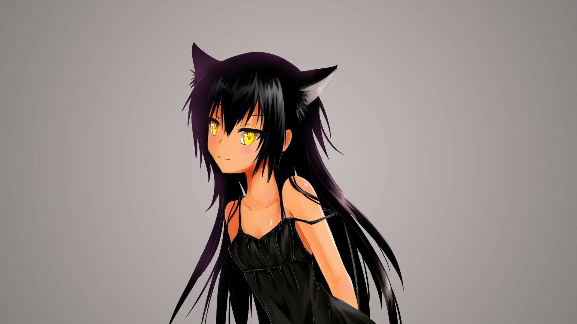 Аниме картинки девушки-кошки