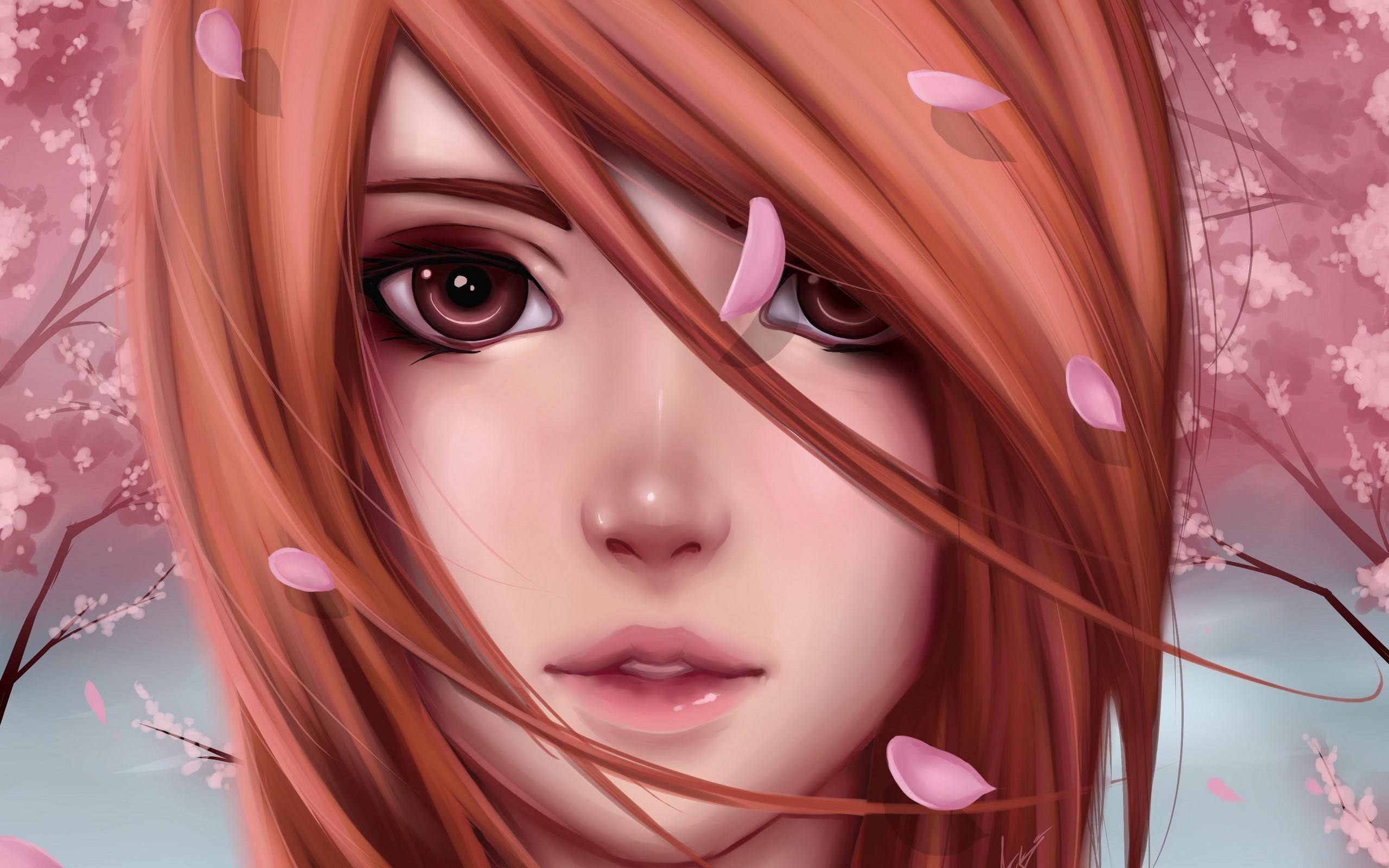 Картинки девушки аниме лицо
