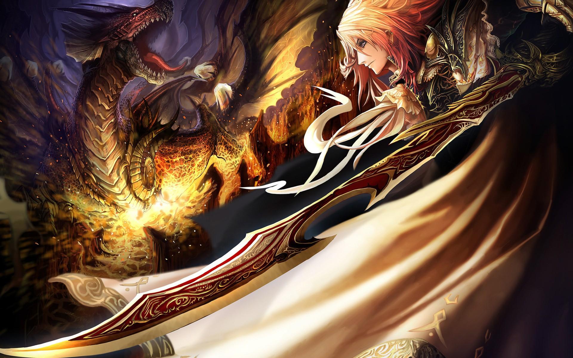 Фото аниме девушка и дракон
