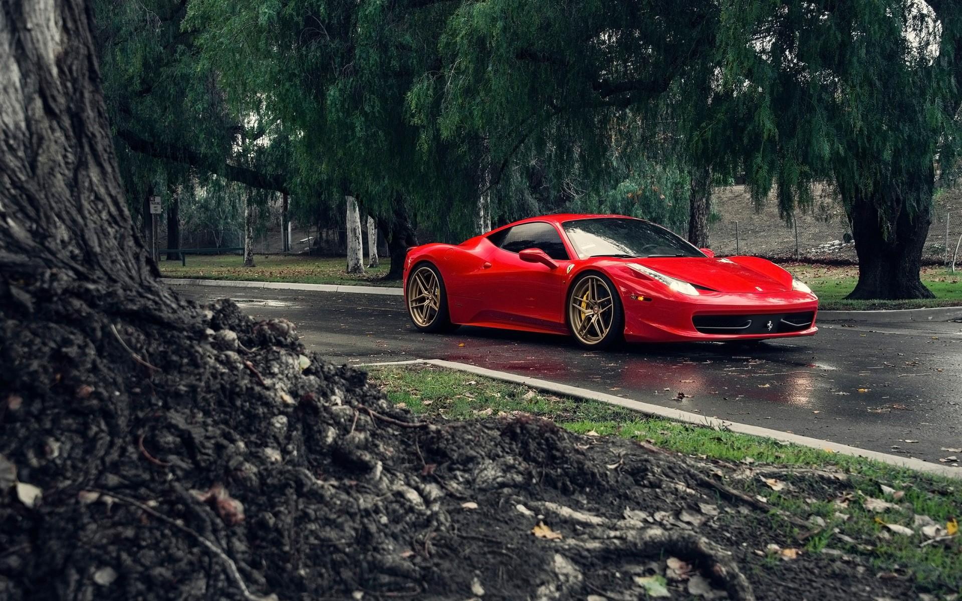 Обои Феррари, Ferrari 458 italia, улица. Автомобили foto 9