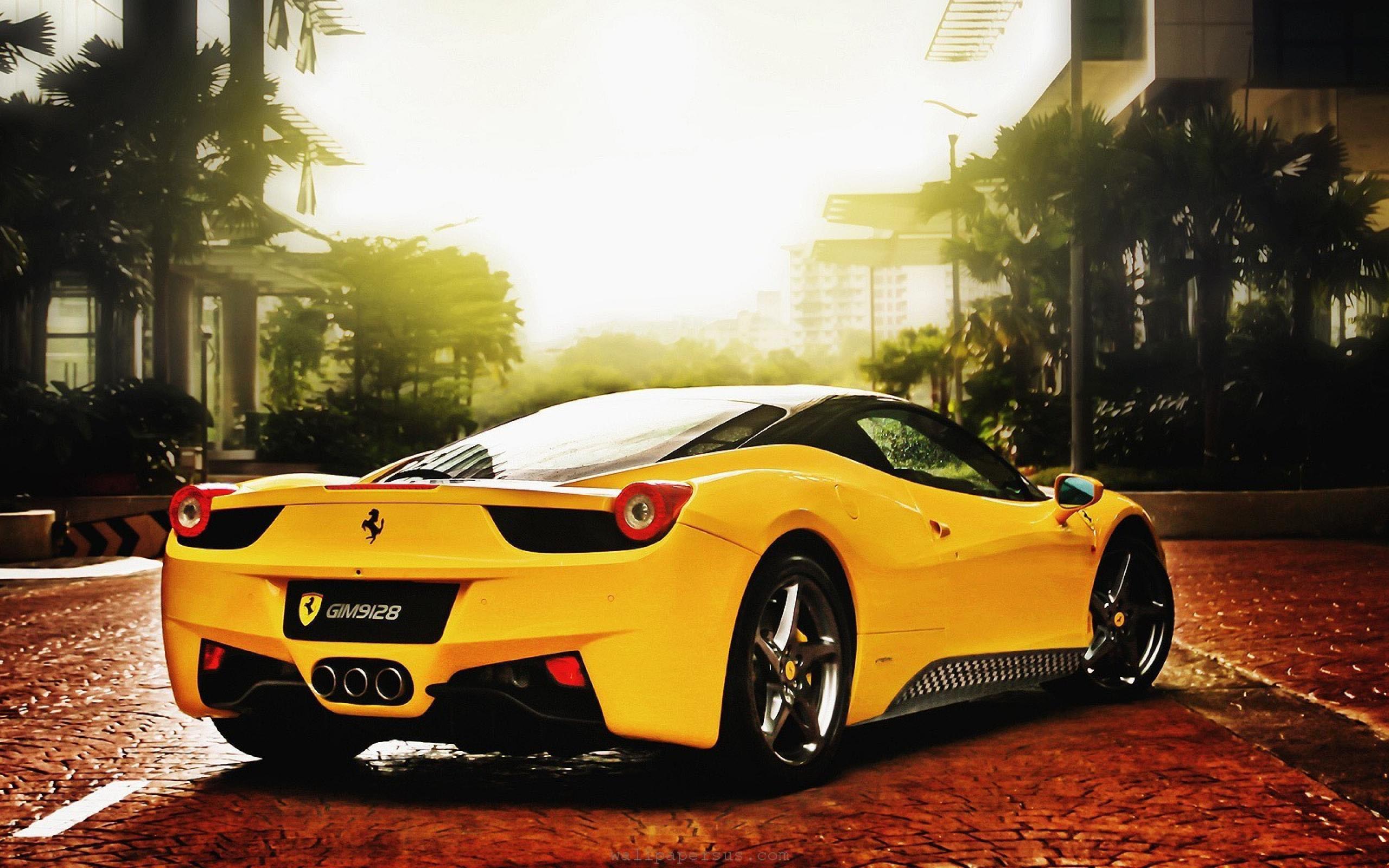 Обои Феррари, Ferrari 458 italia, улица. Автомобили foto 17