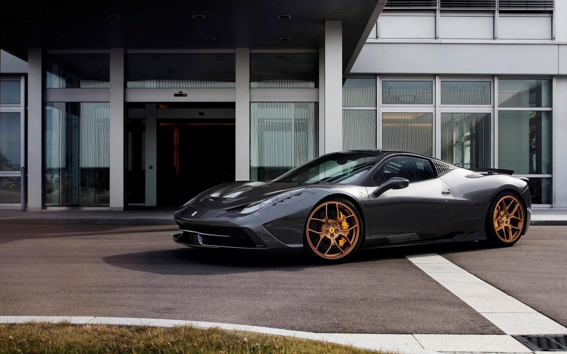 Get Black Ferrari 458 Wallpaper  PNG