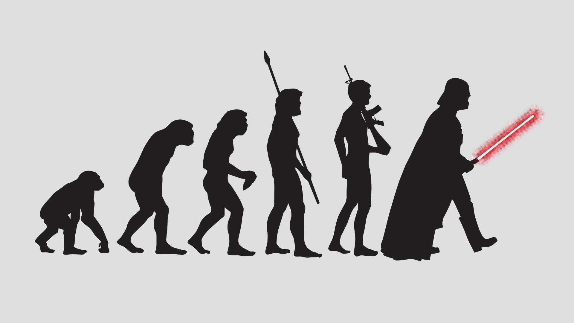 Открытки, прикольная картинка эволюции человека