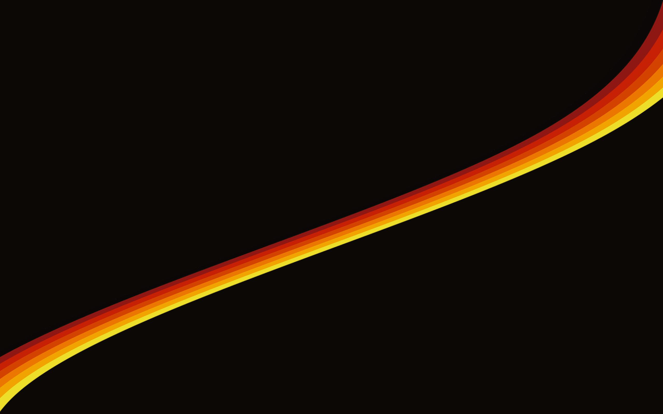 yellow orange ribbon diagonally black background