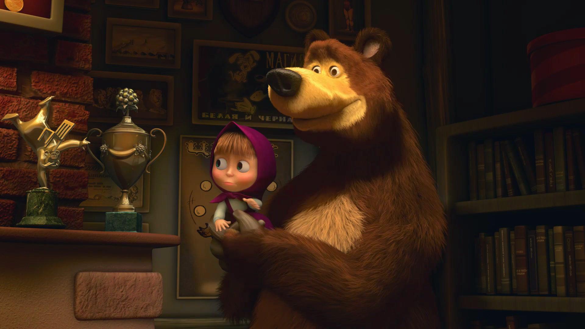 Маша и медведь в картинках смотреть
