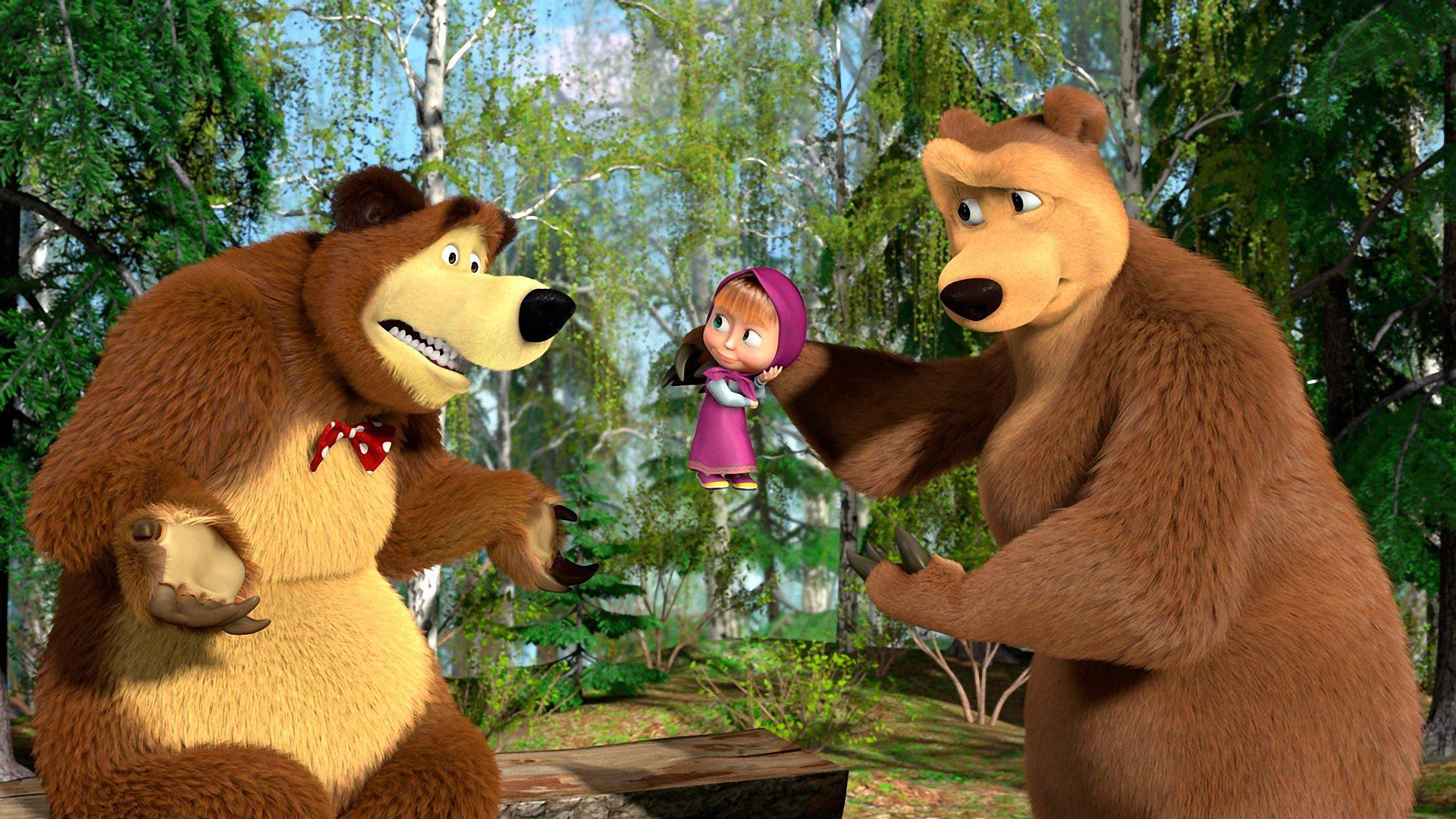 Картинки на рабочий стол маша и медведь