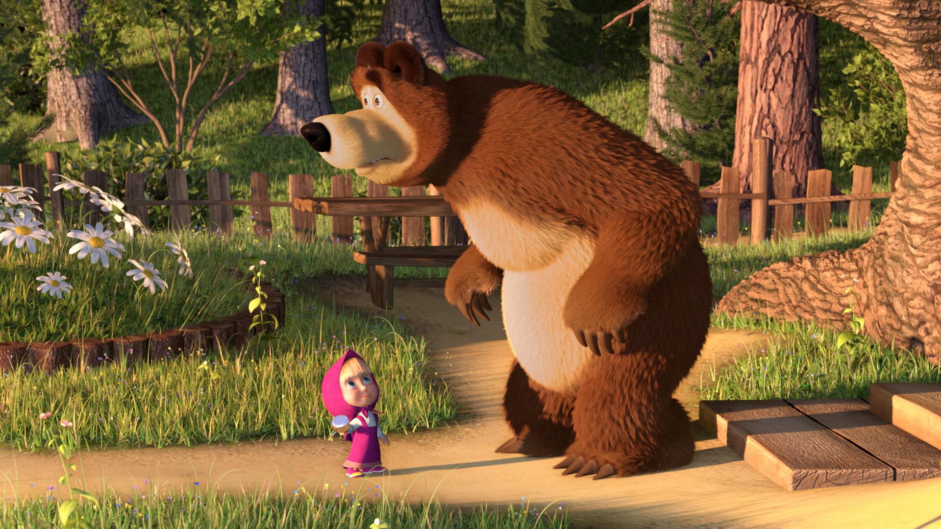 Днем, открытки из мульта маша и медведь