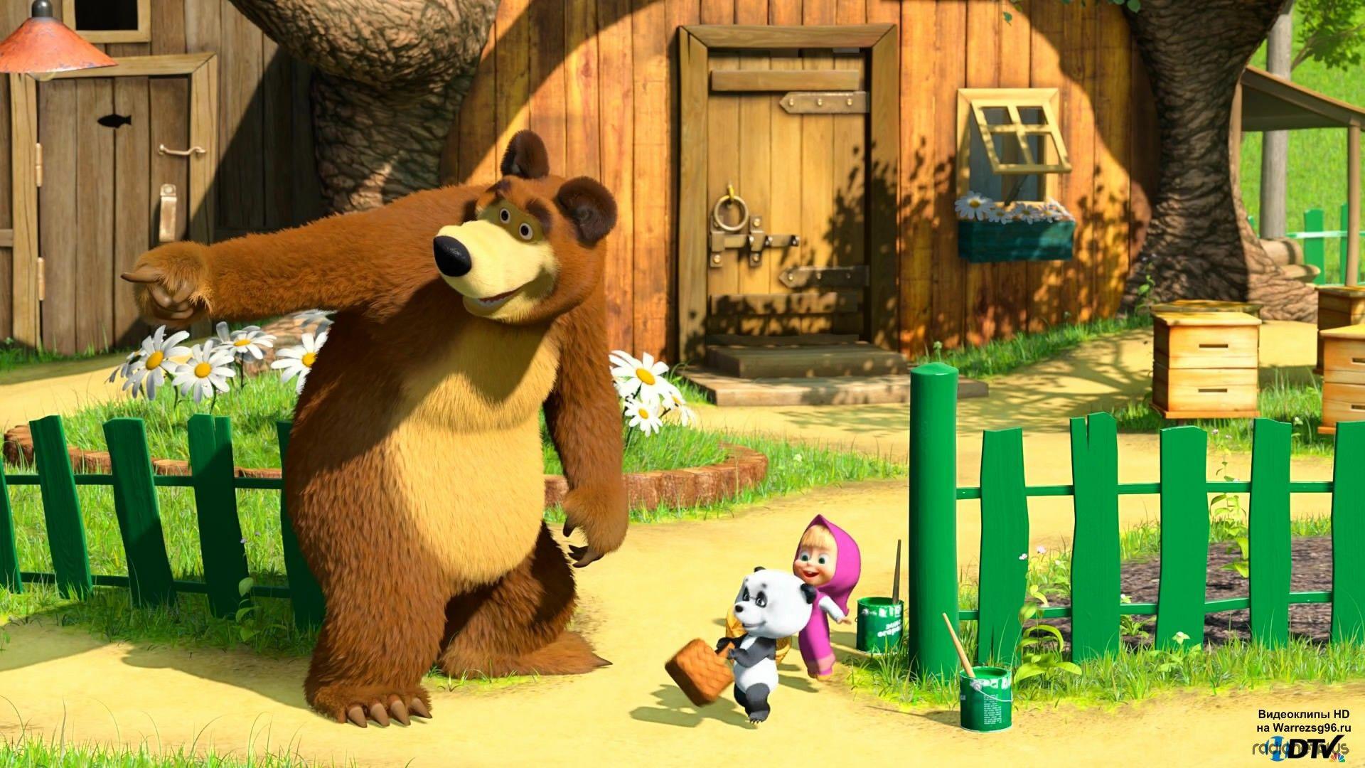Картинки с мультфильма маша и медведь