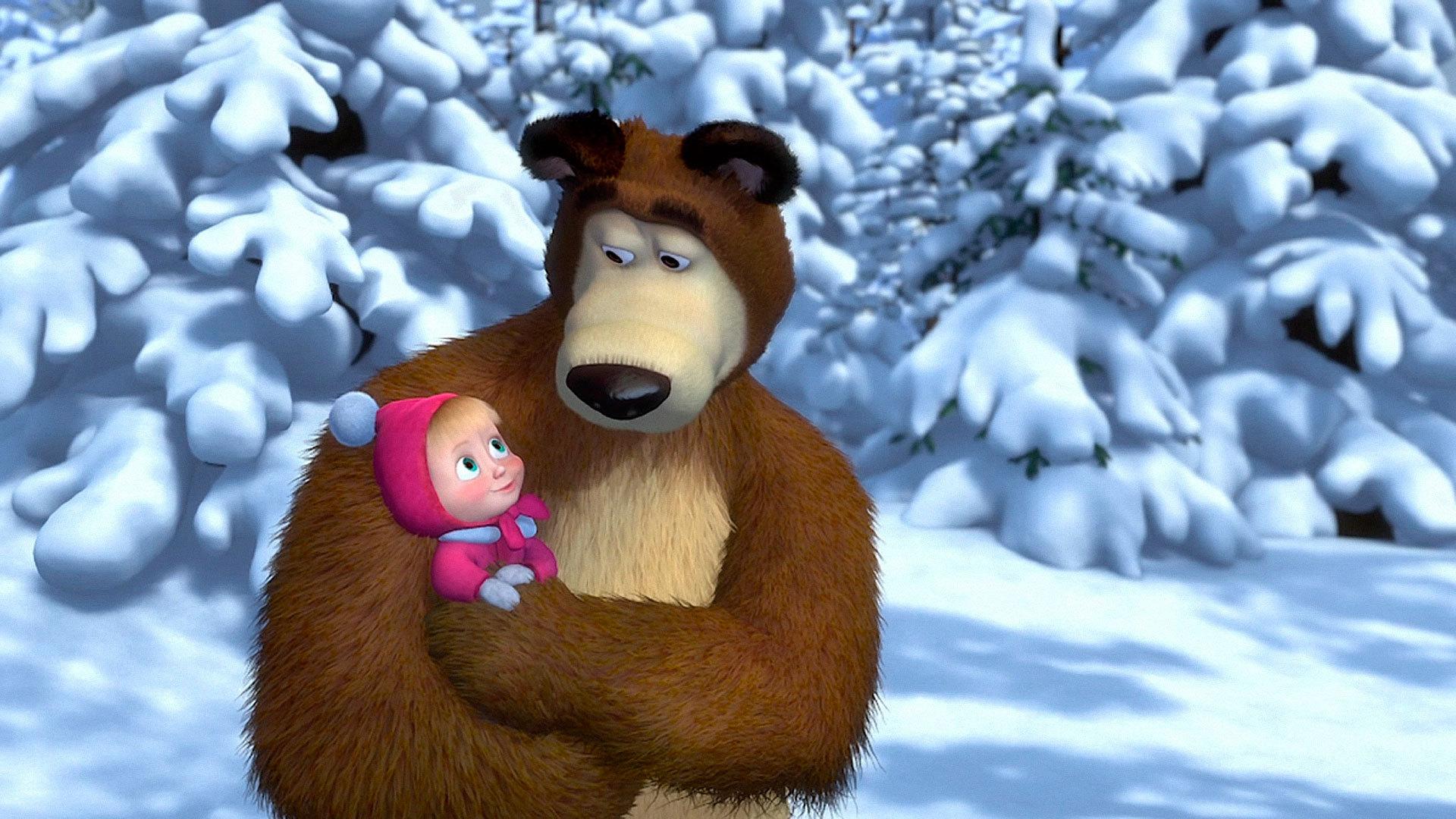 Картинки крутые, открытки из мульта маша и медведь
