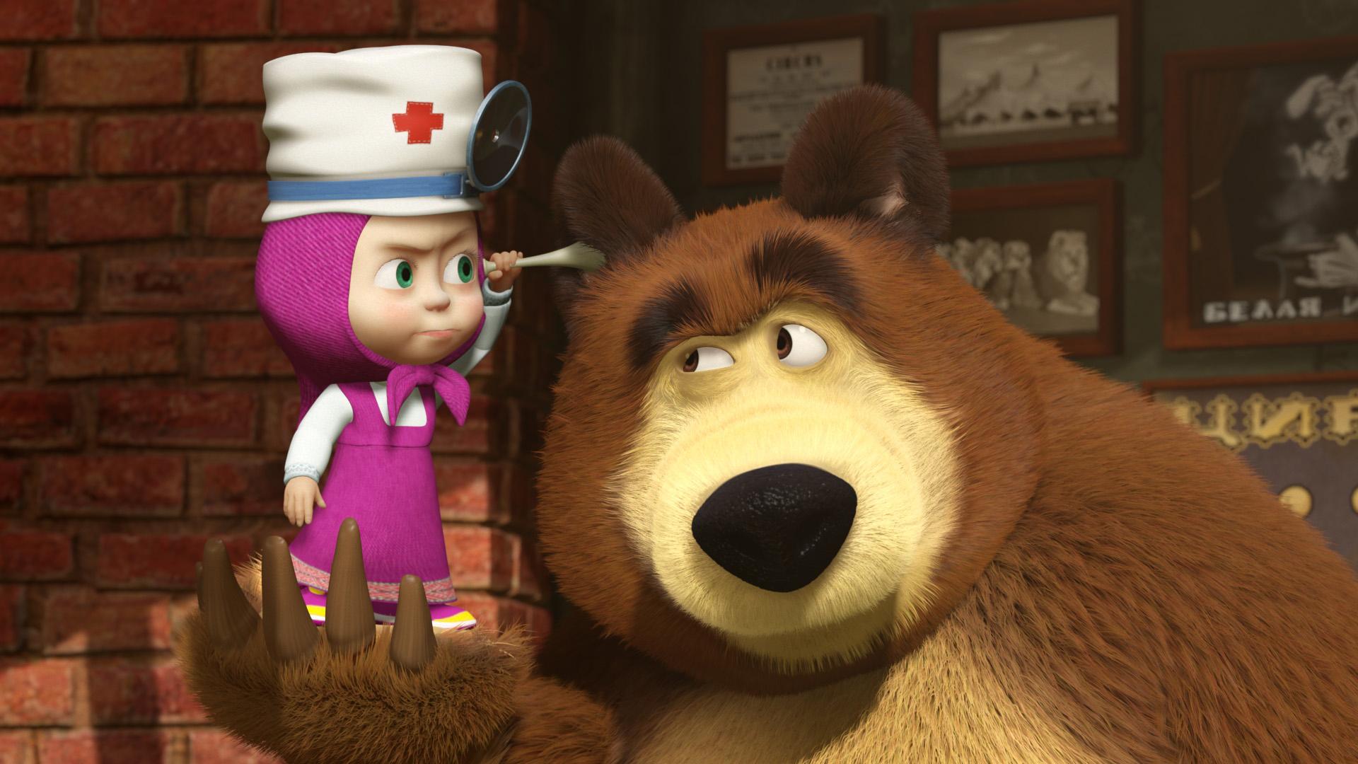 Для, картинки с мультфильма маша и медведь