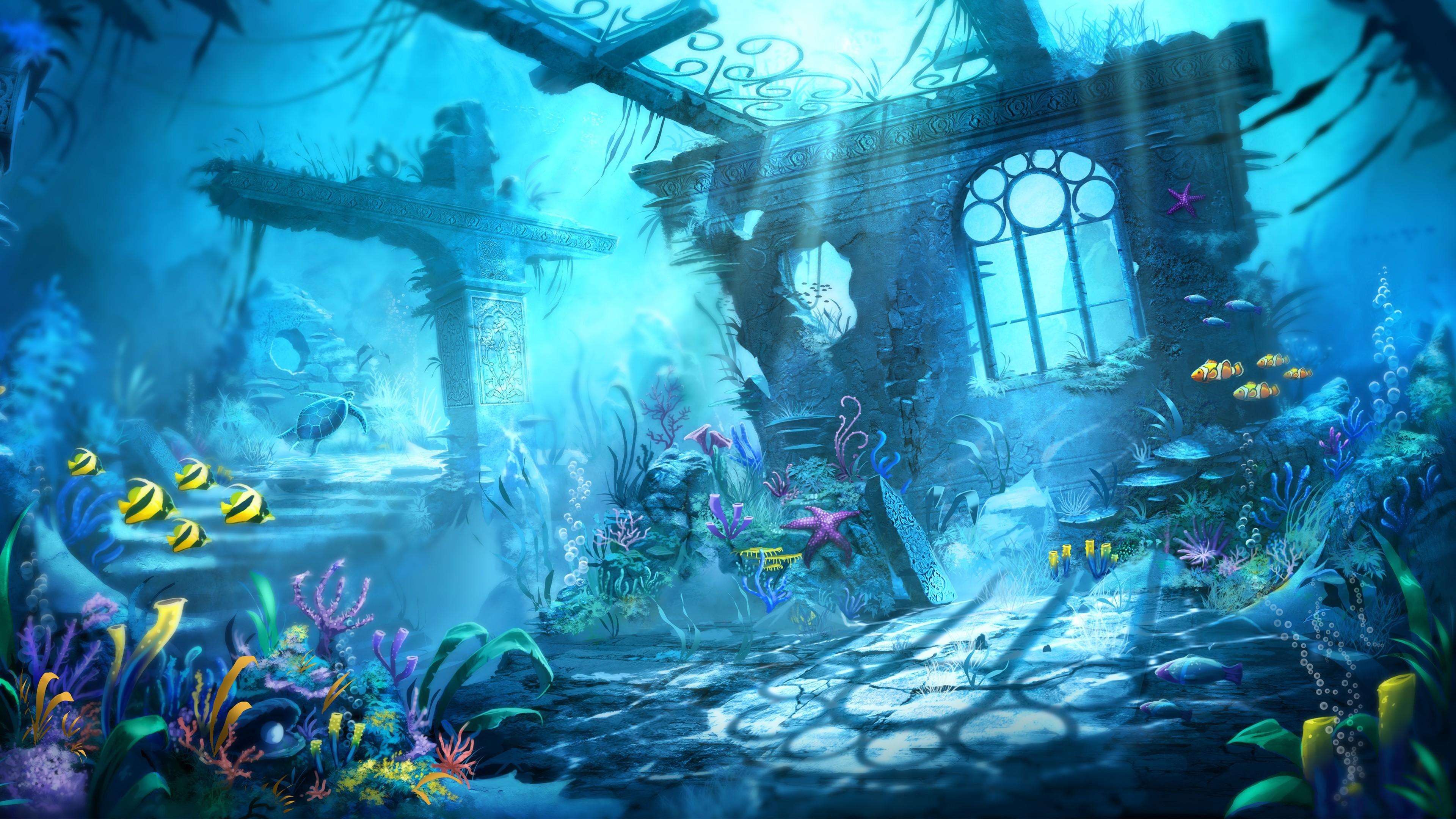 underwater cartoon wallpaper - photo #17