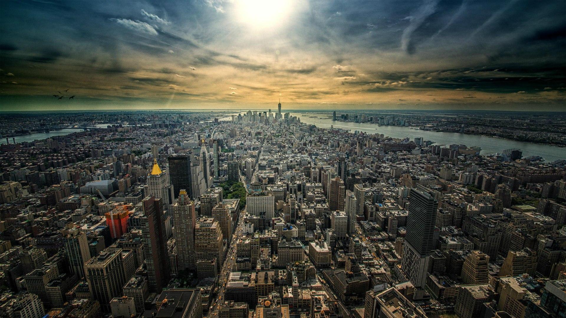 Обои на рабочий стол город нью-йорк