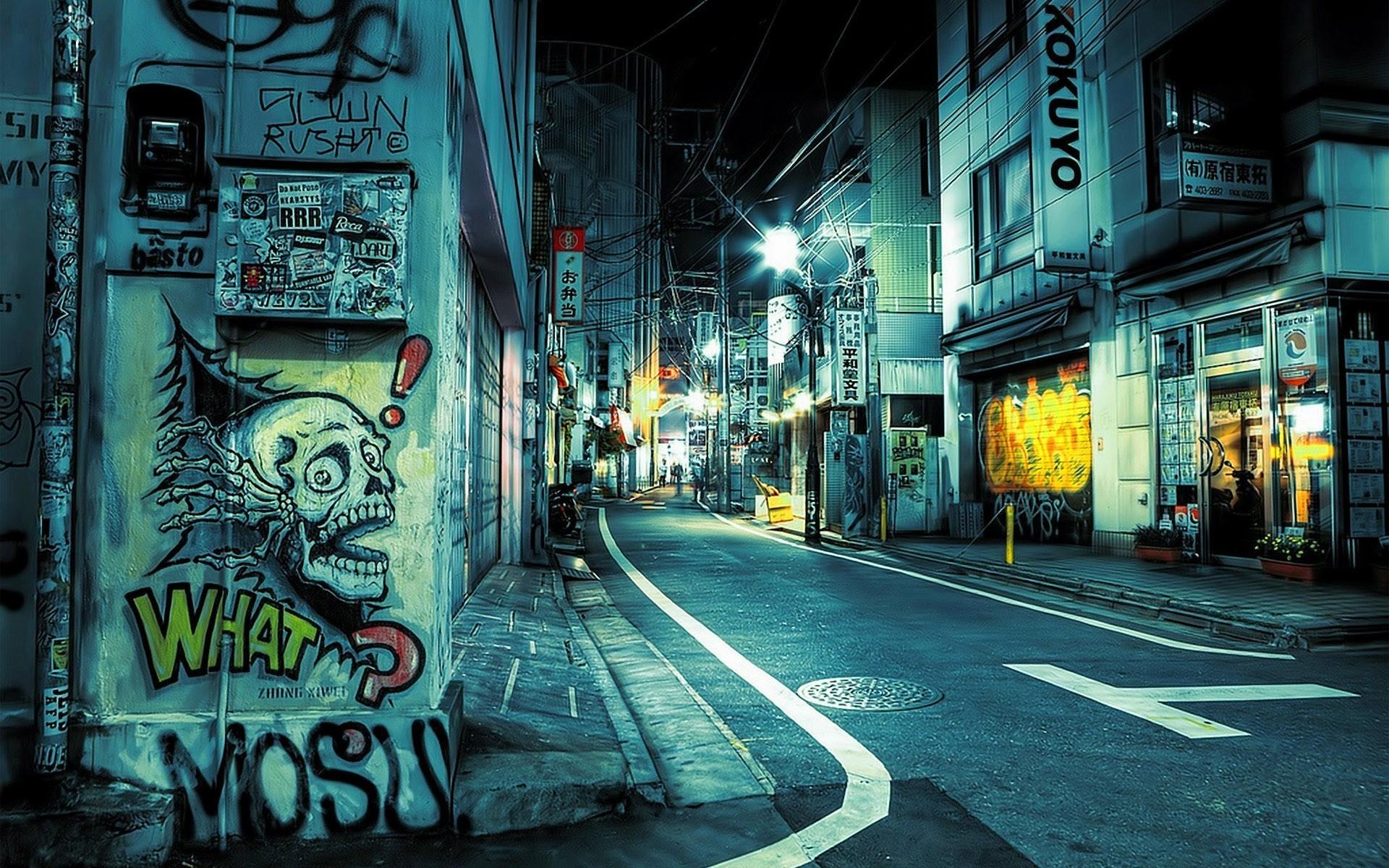 картинки ночи граффити