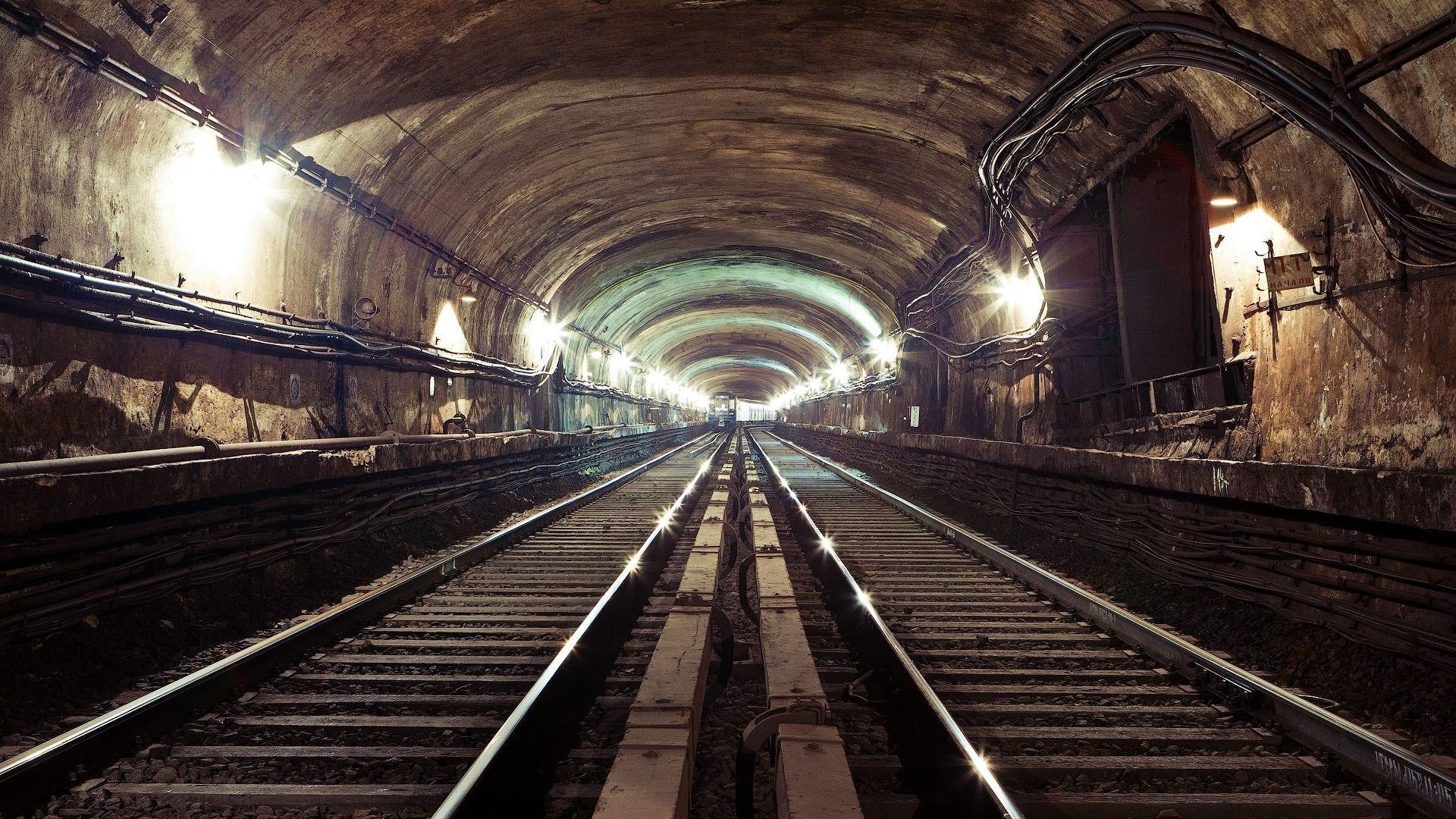 Subway architecture buildings tunnel room tracks railroad