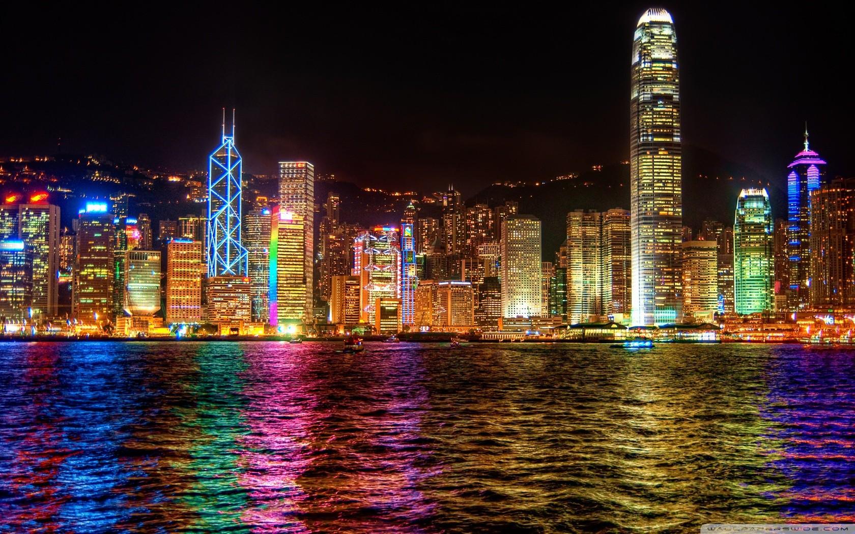 виды красивые картинки ночного города на рабочий уклейка