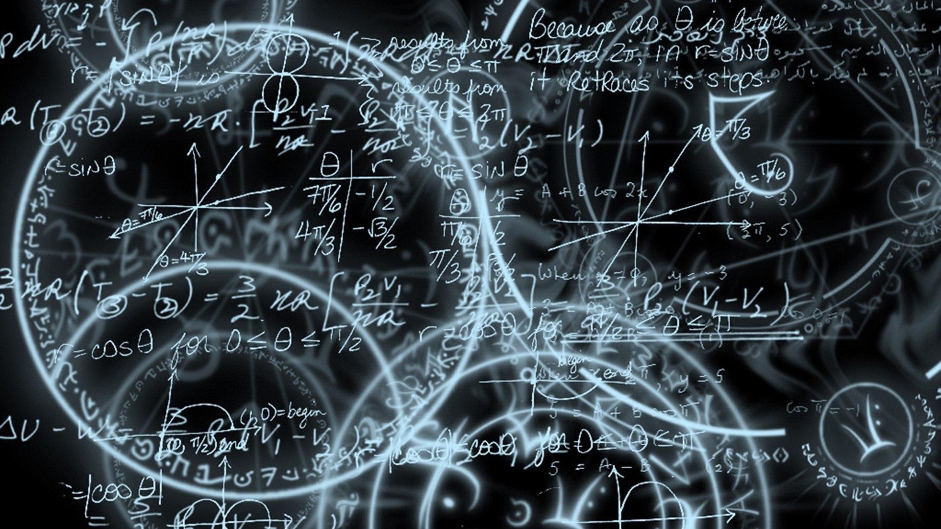 Обои для рабочего стола математические формулы