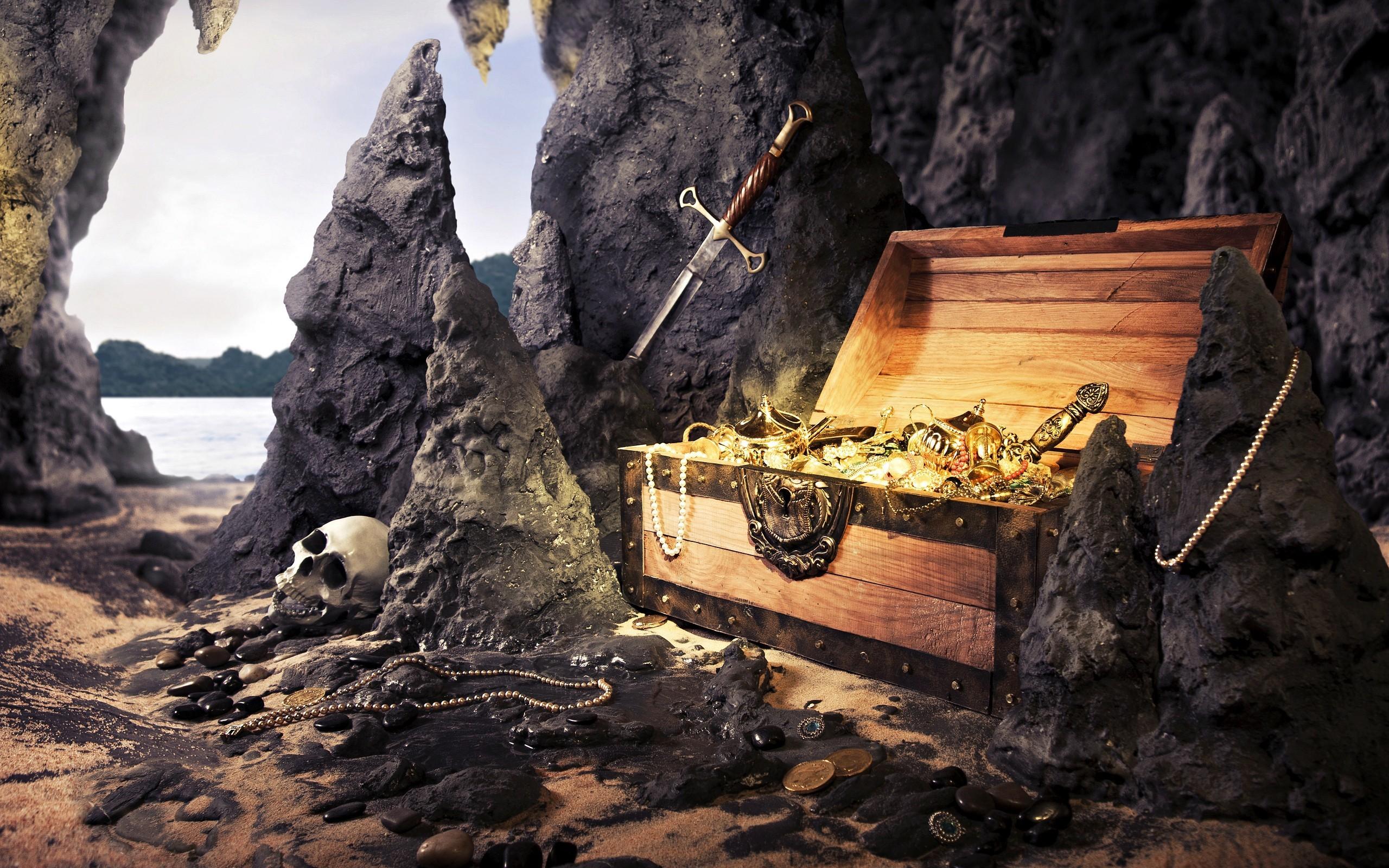 Картинки сокровищ в пещерах