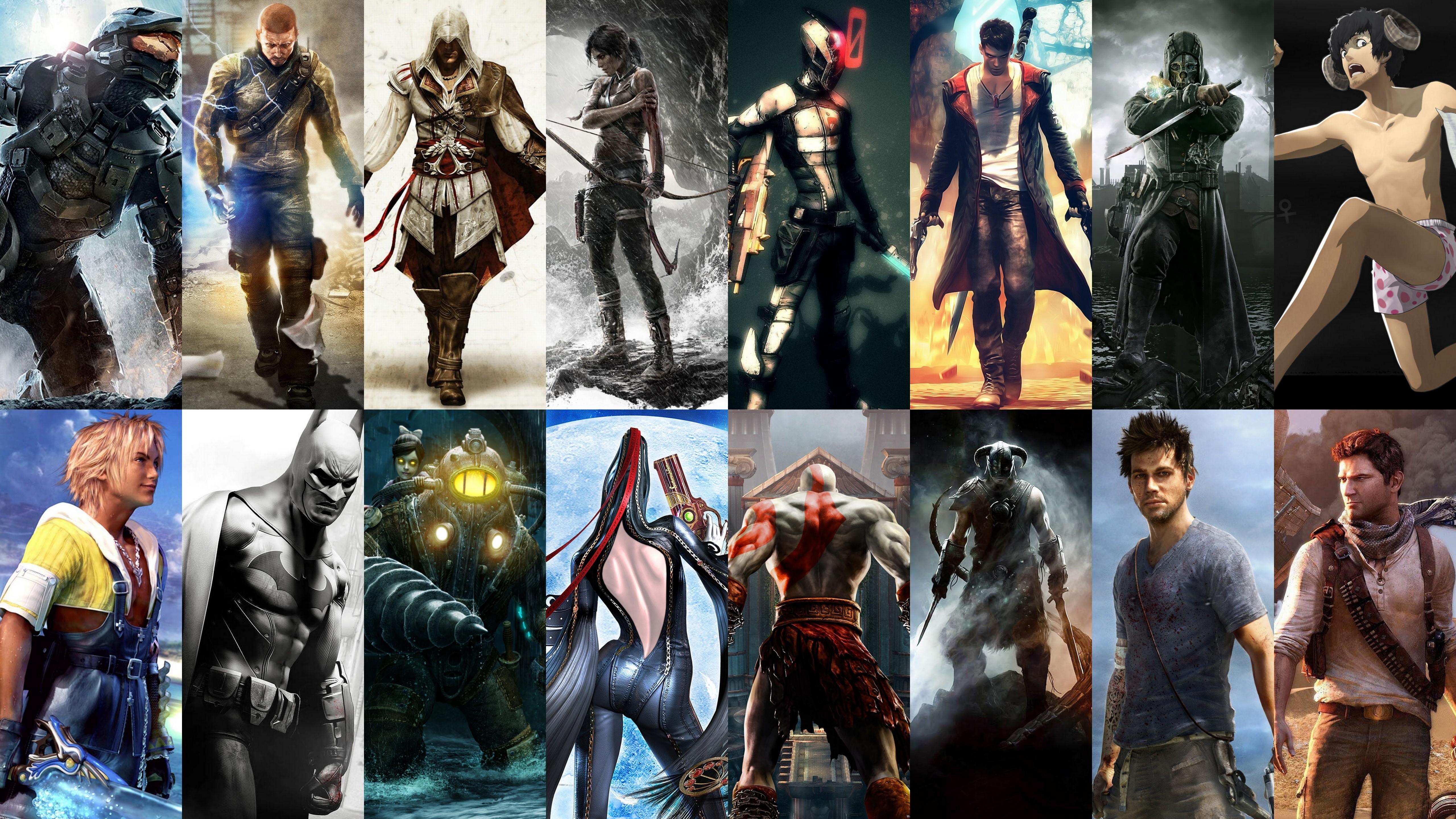 Картинки героев разных игр