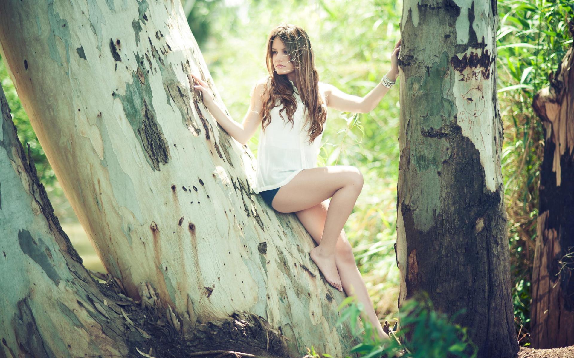 Девочка картинки с деревом