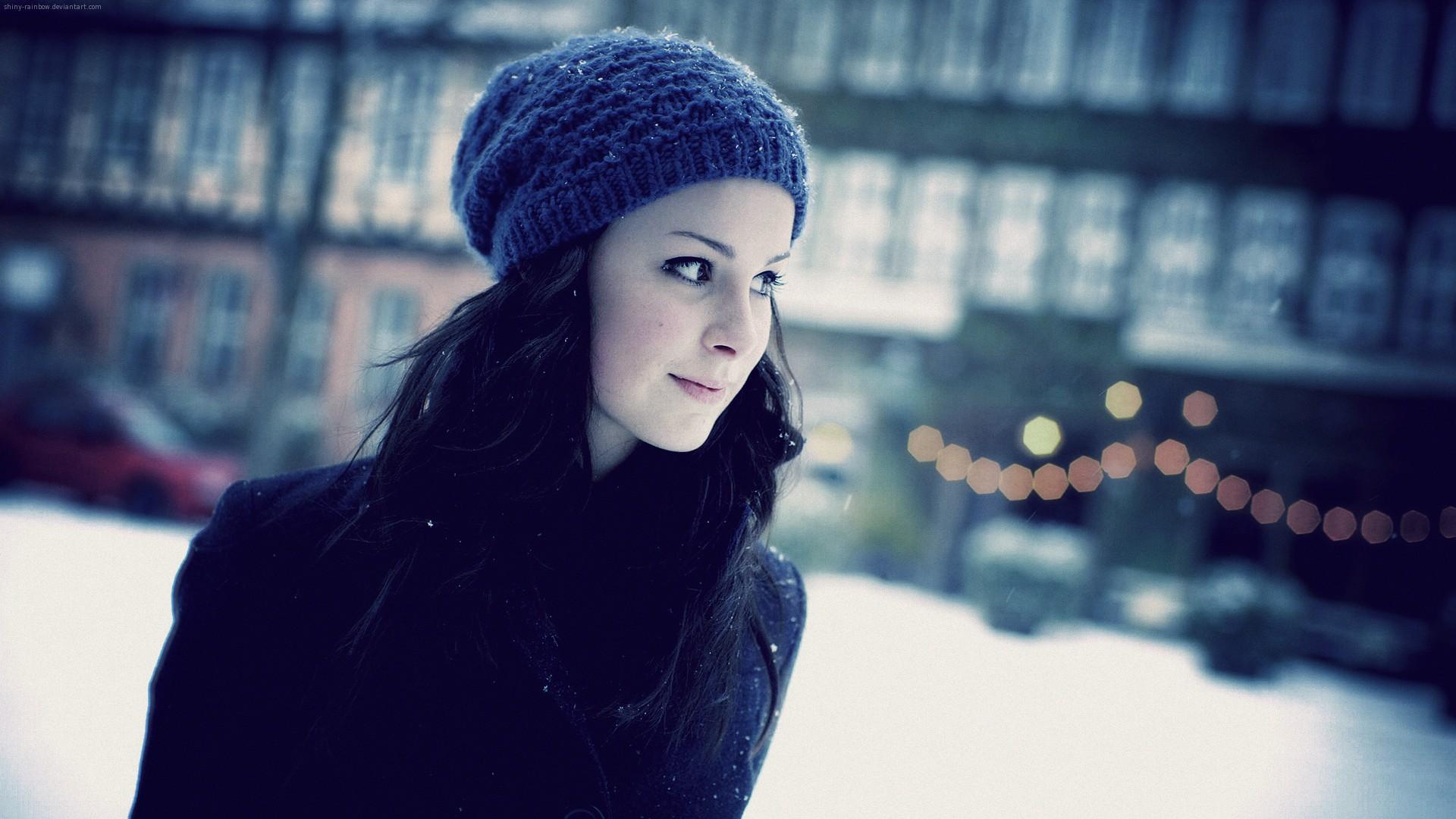 Зимние девушки фото на аву