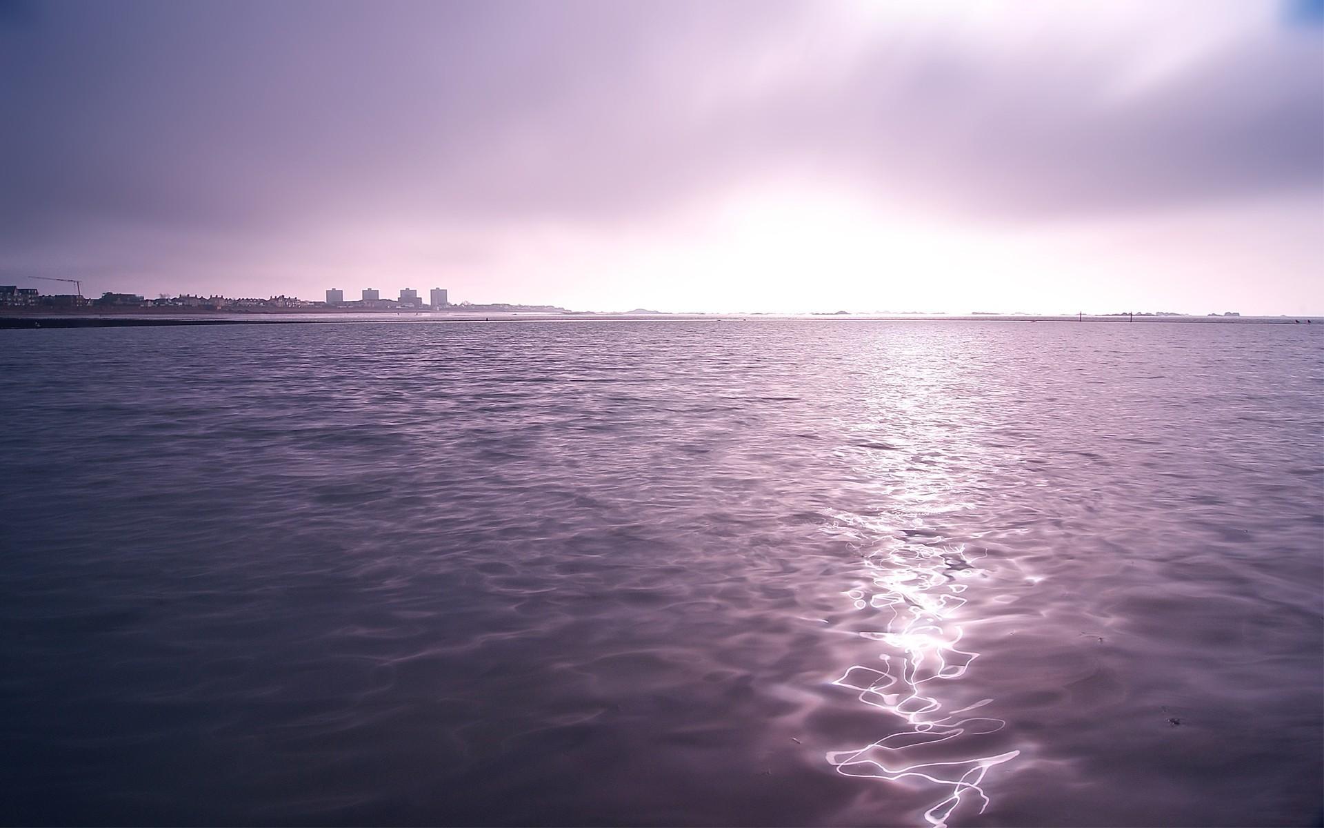 Purple Ocean Wallpapers Download at