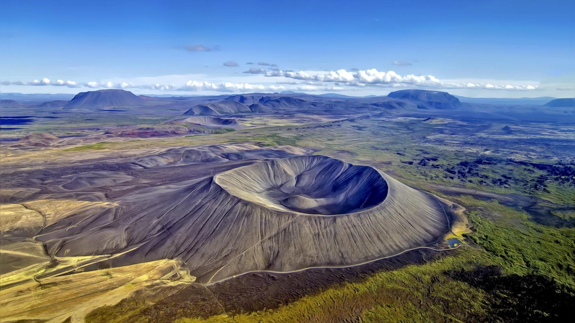 кратер вулкана картинки плел корзины