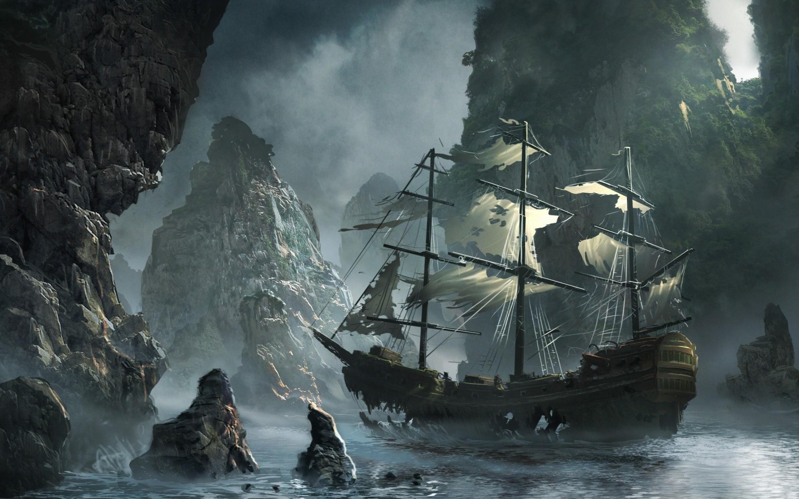 картинка корабль море скалы собиралась сделать