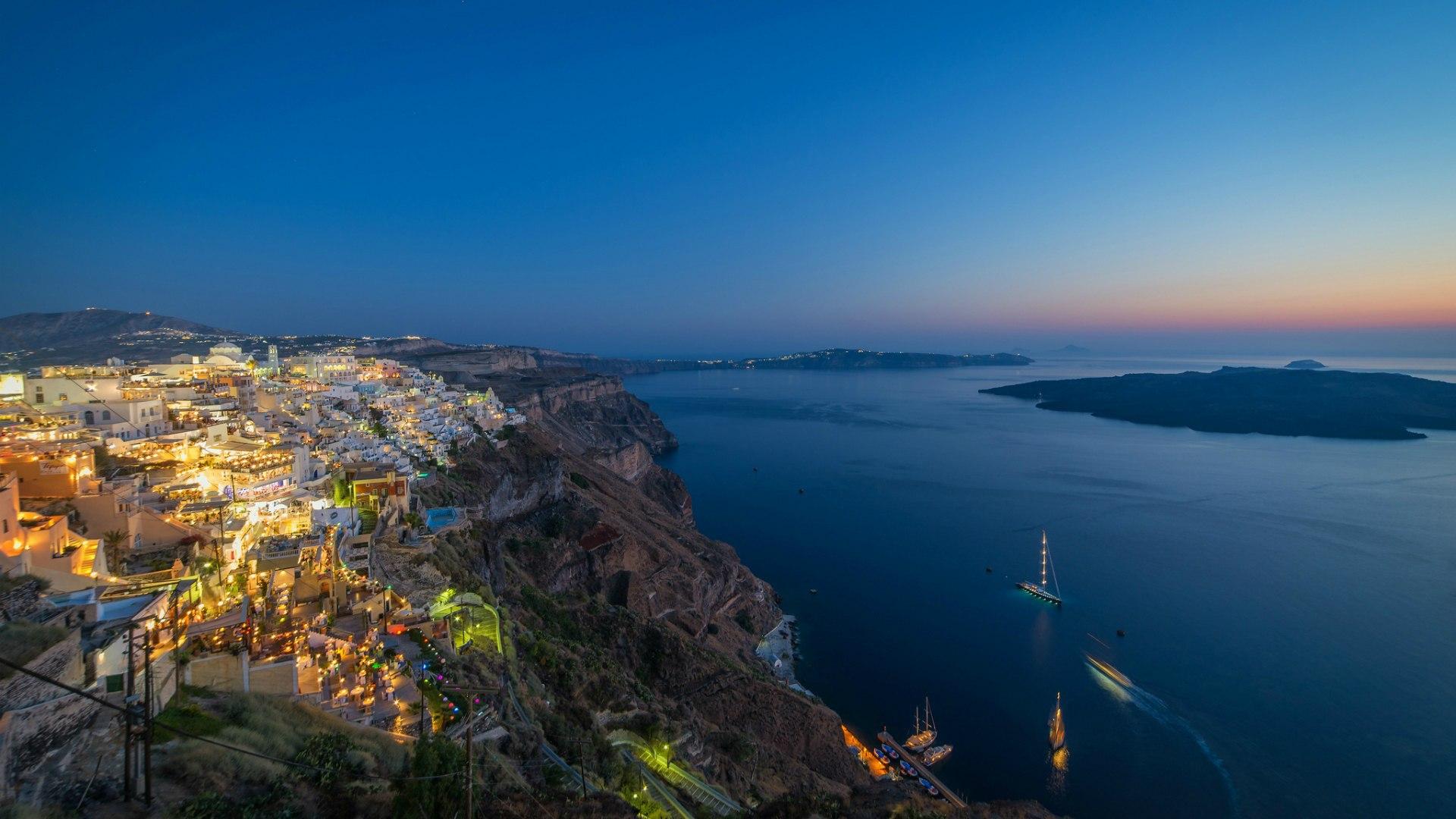wallpaper santorini greece island - photo #31
