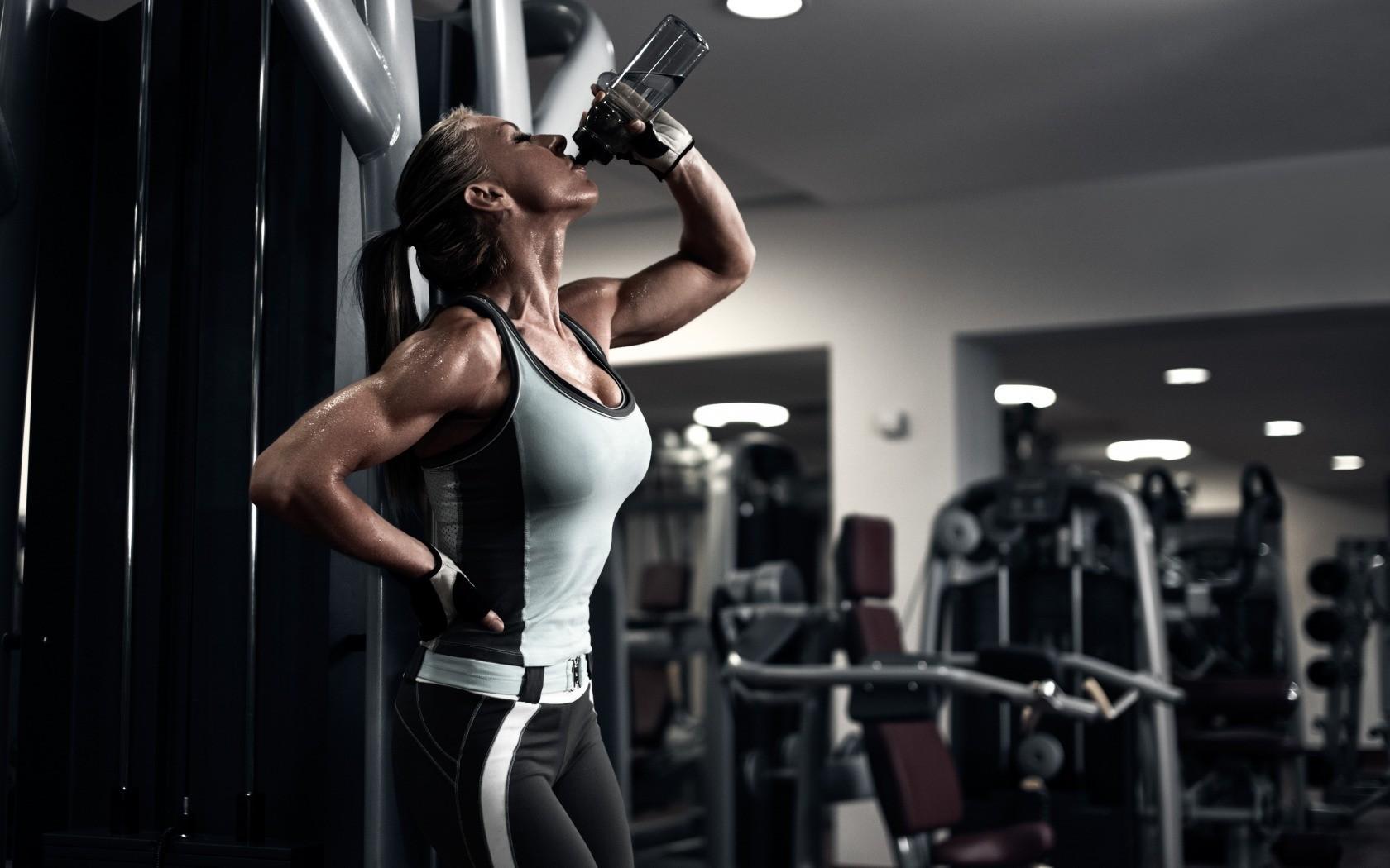 обои телок в спортзале