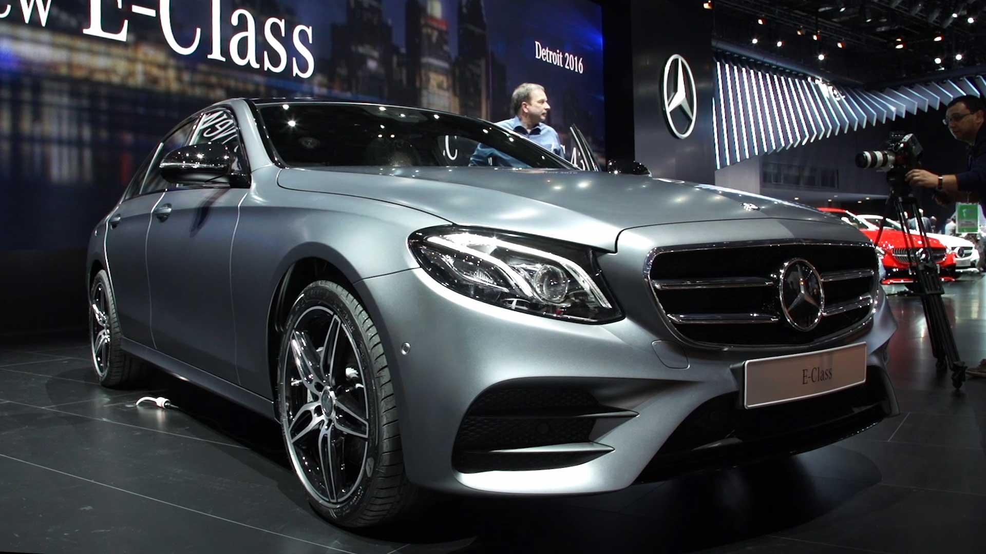 Presentation of silver car Mercedes-Benz E-Class 2017 ...