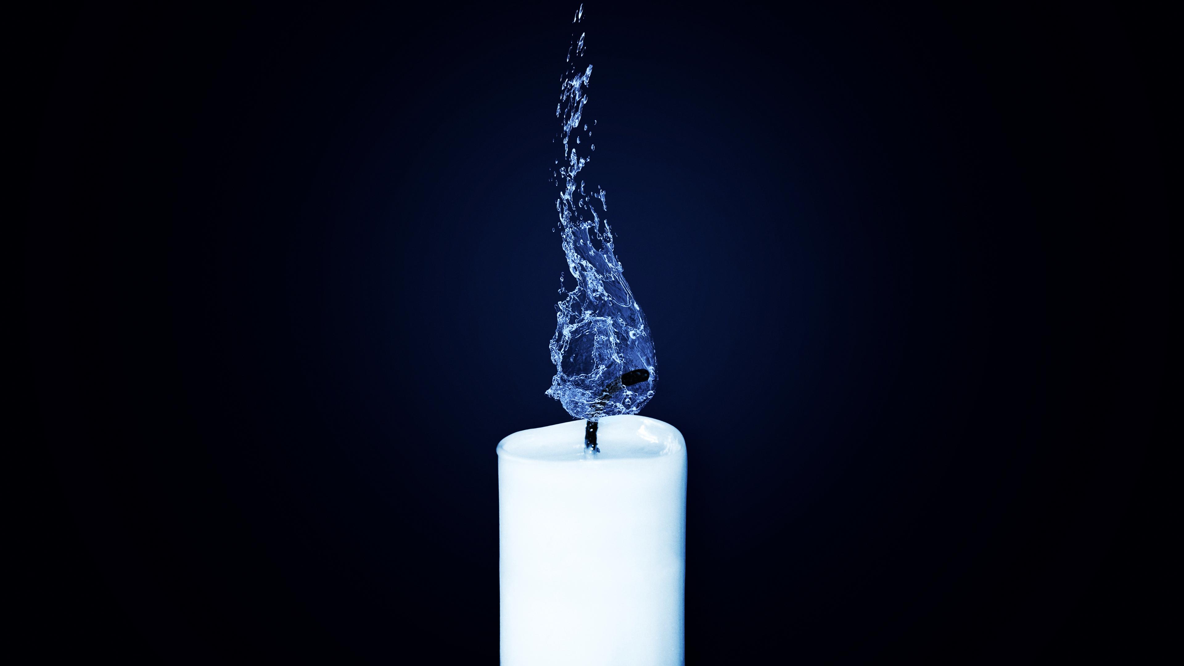 Картинки свеча вода
