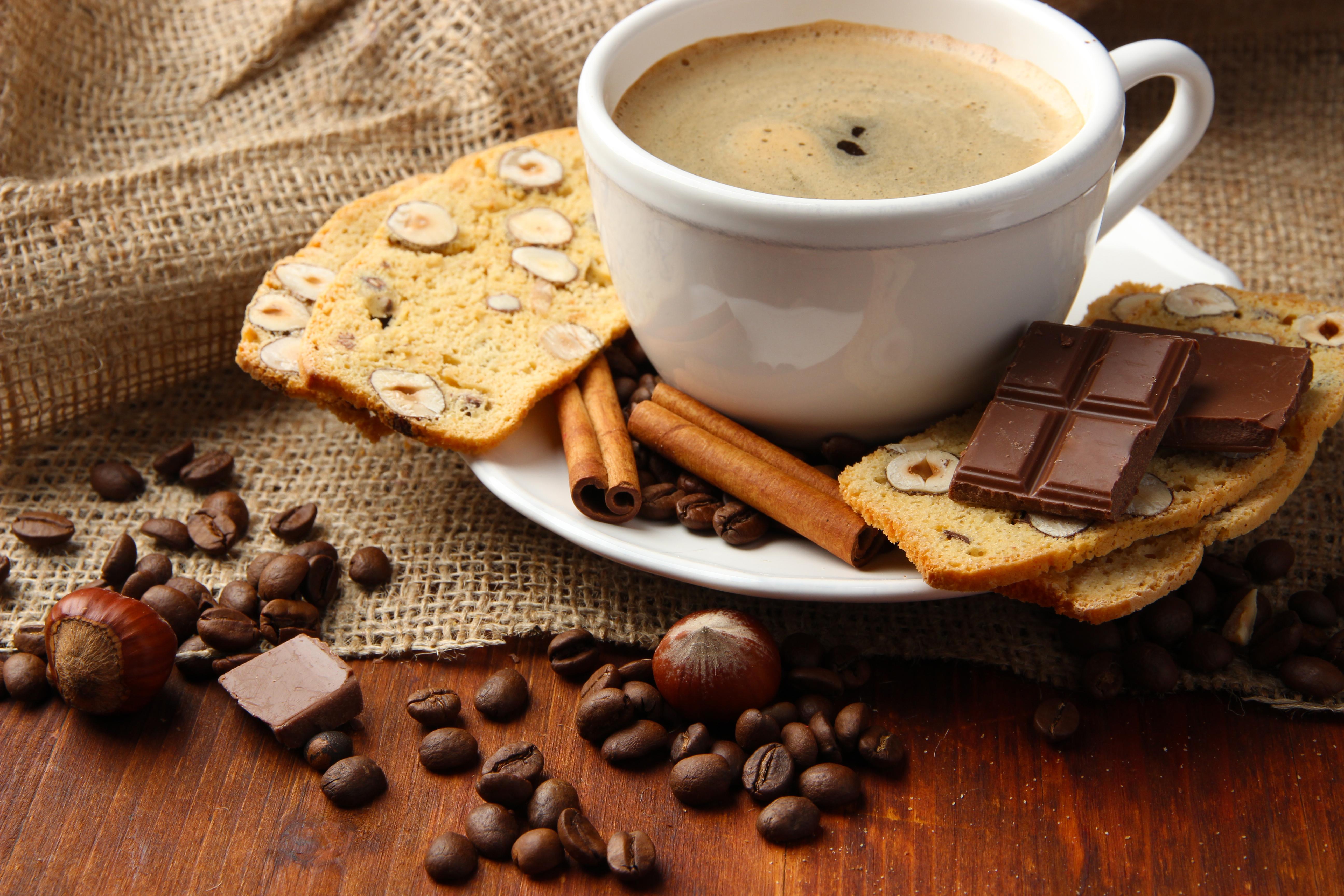 Картинка чашечка кофе и шоколад