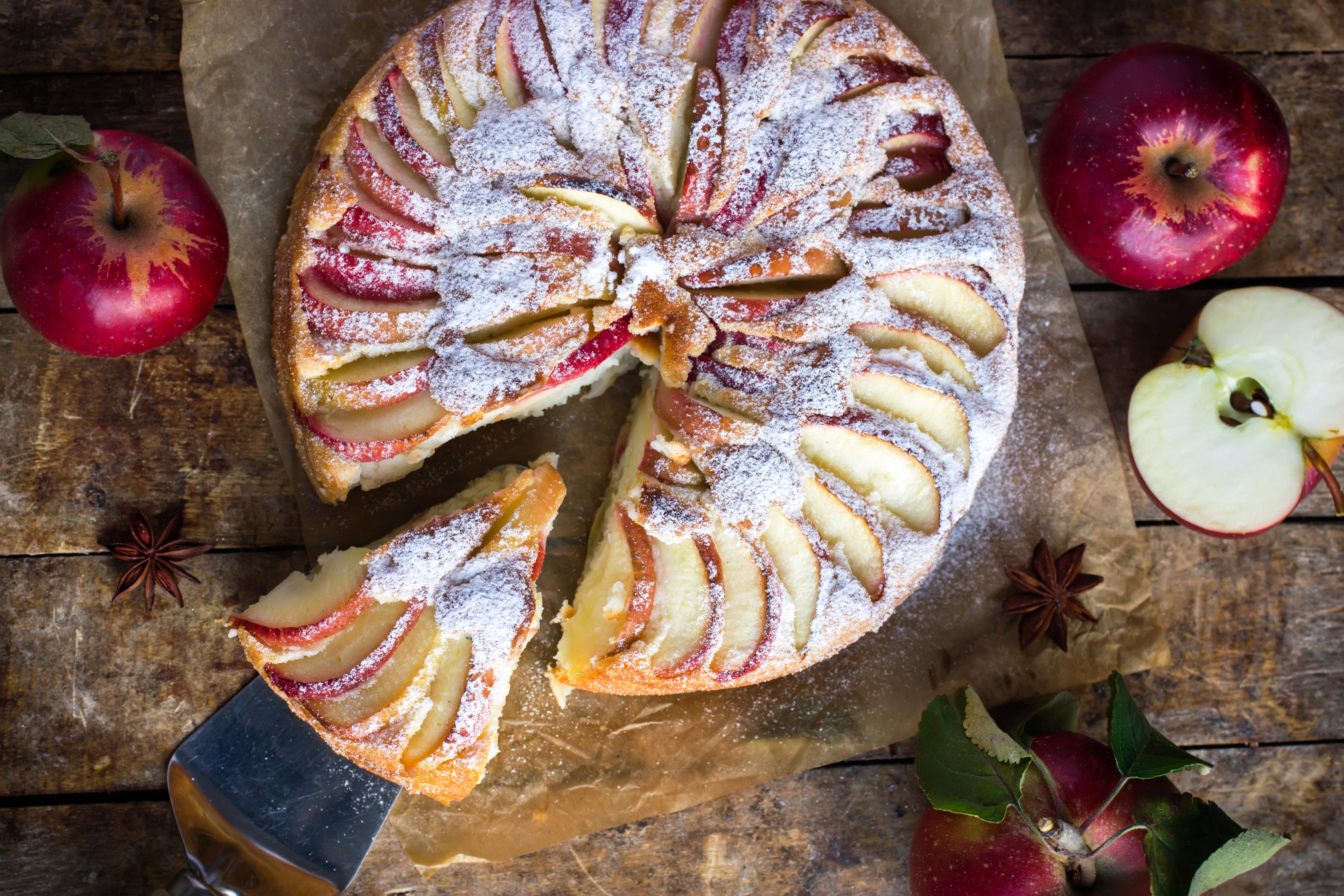 ванной, картинки яблочных пирожков тем как