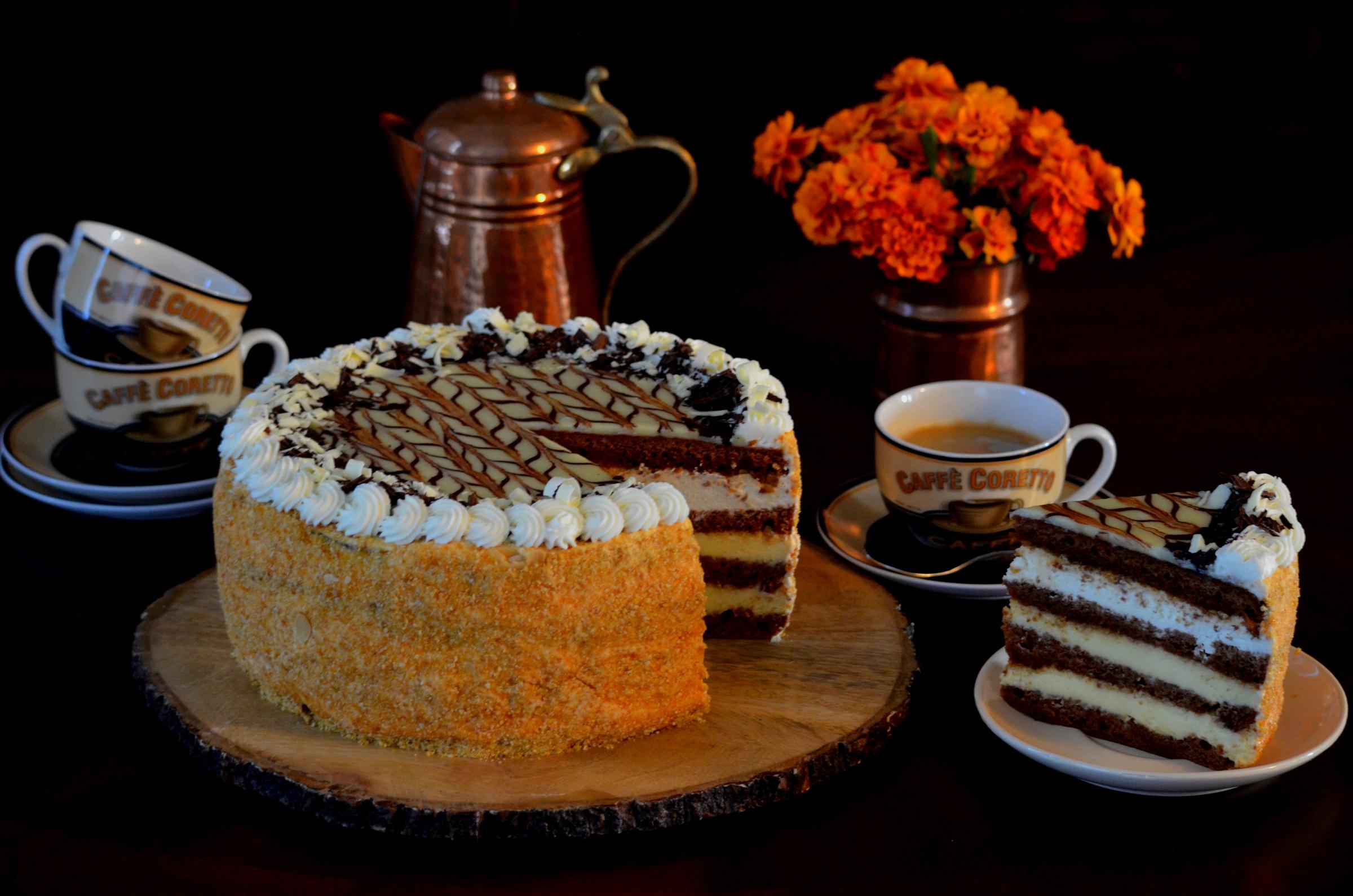 Днем, открытки с днем рождения женщине с тортом вином и кофе