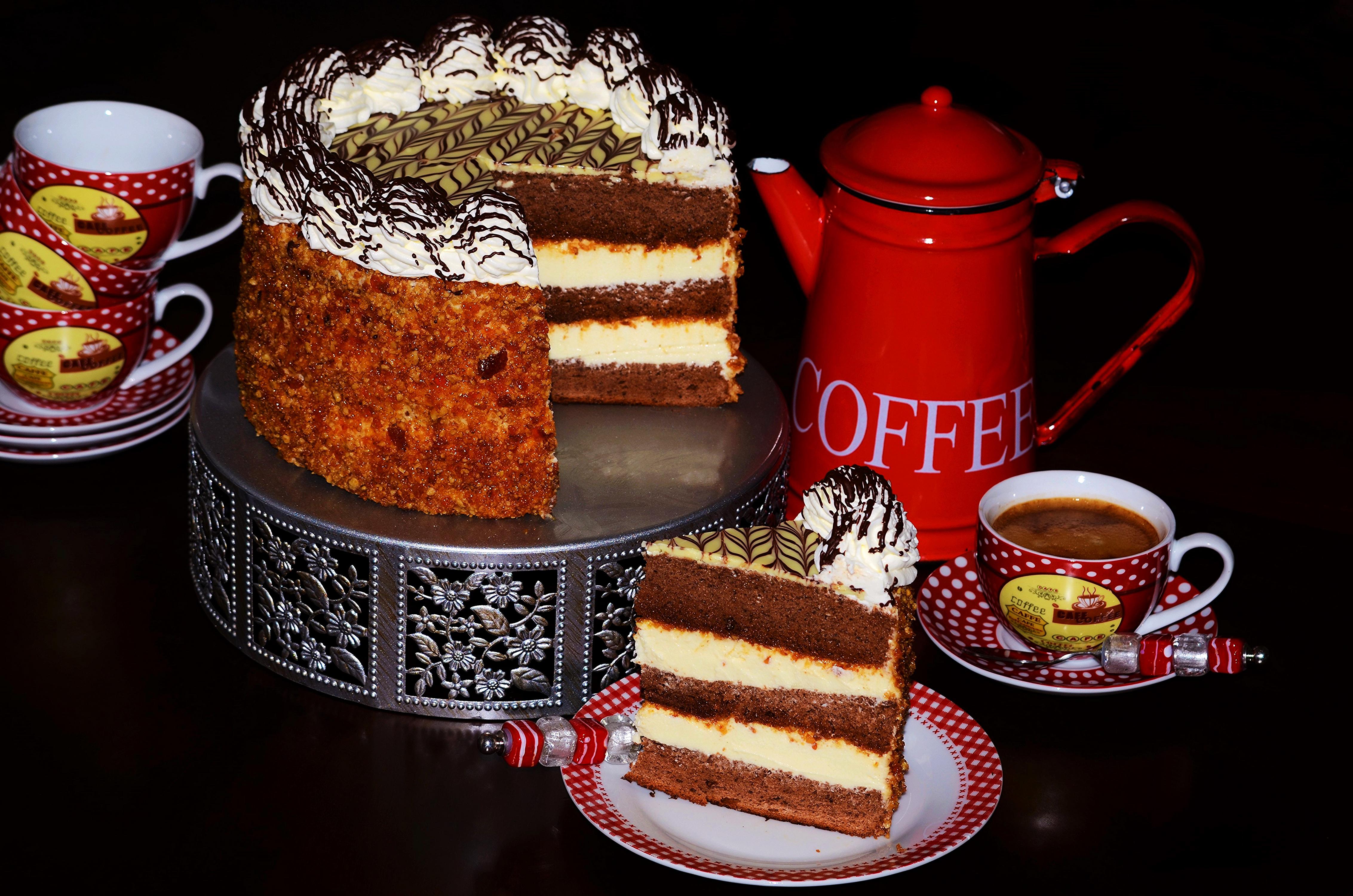 Открытки кофе пирожные
